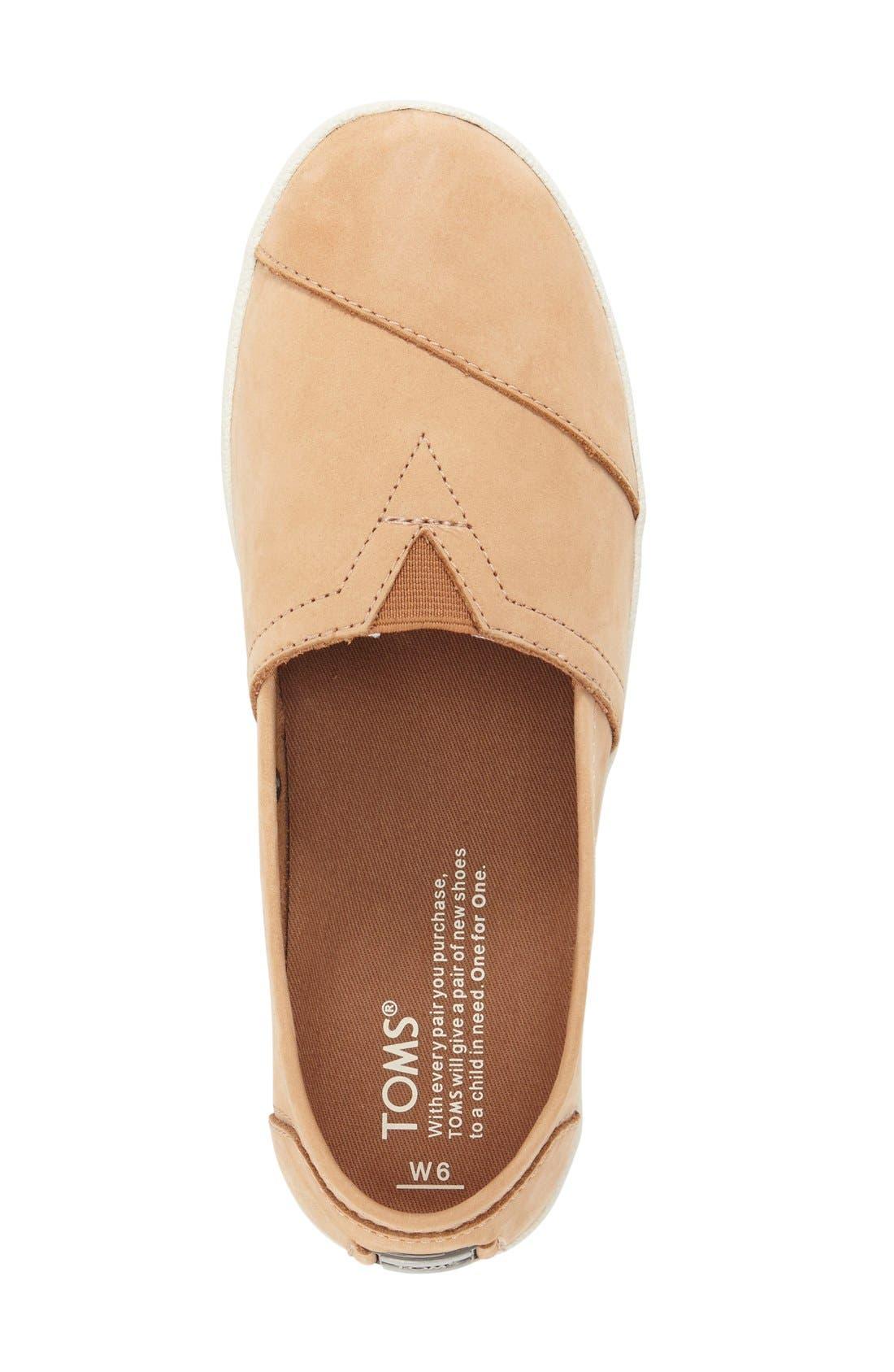 Alternate Image 3  - TOMS 'Avalon' Nubuck Leather Slip-On (Women)