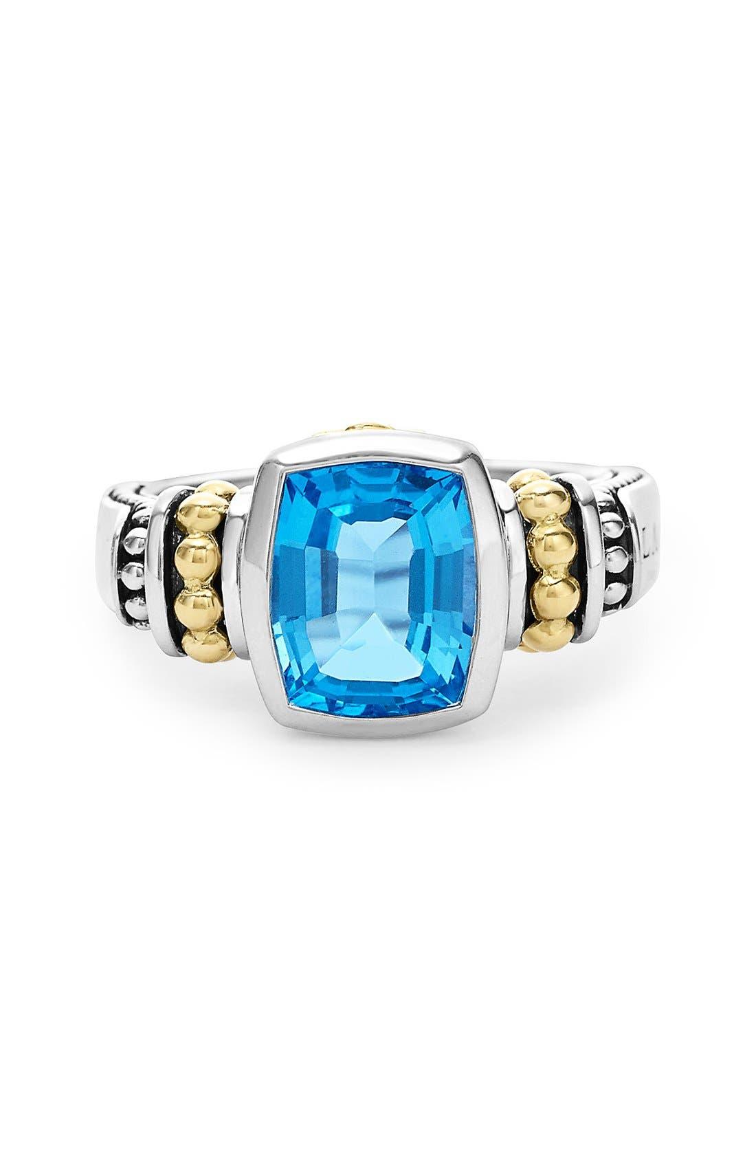 Alternate Image 3  - LAGOS 'Caviar Color' Small Semiprecious Stone Ring