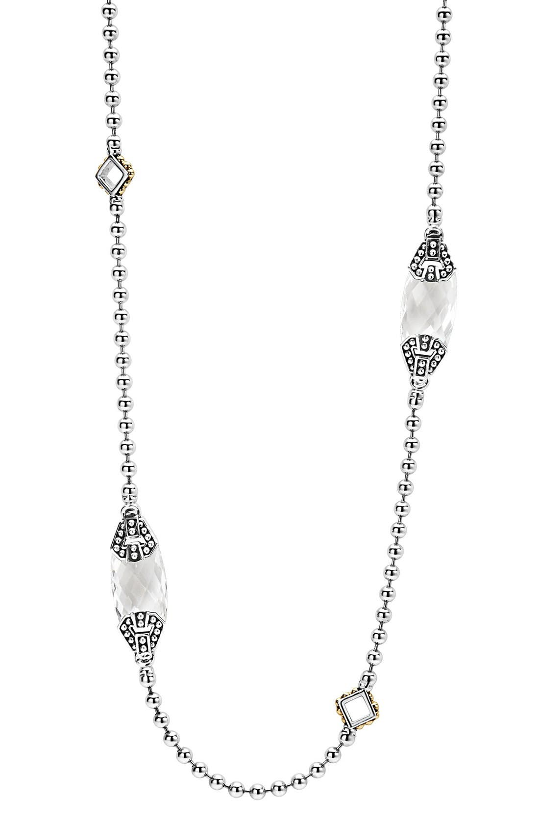 Main Image - LAGOS 'Caviar Color' Long Semiprecious Stone Station Necklace
