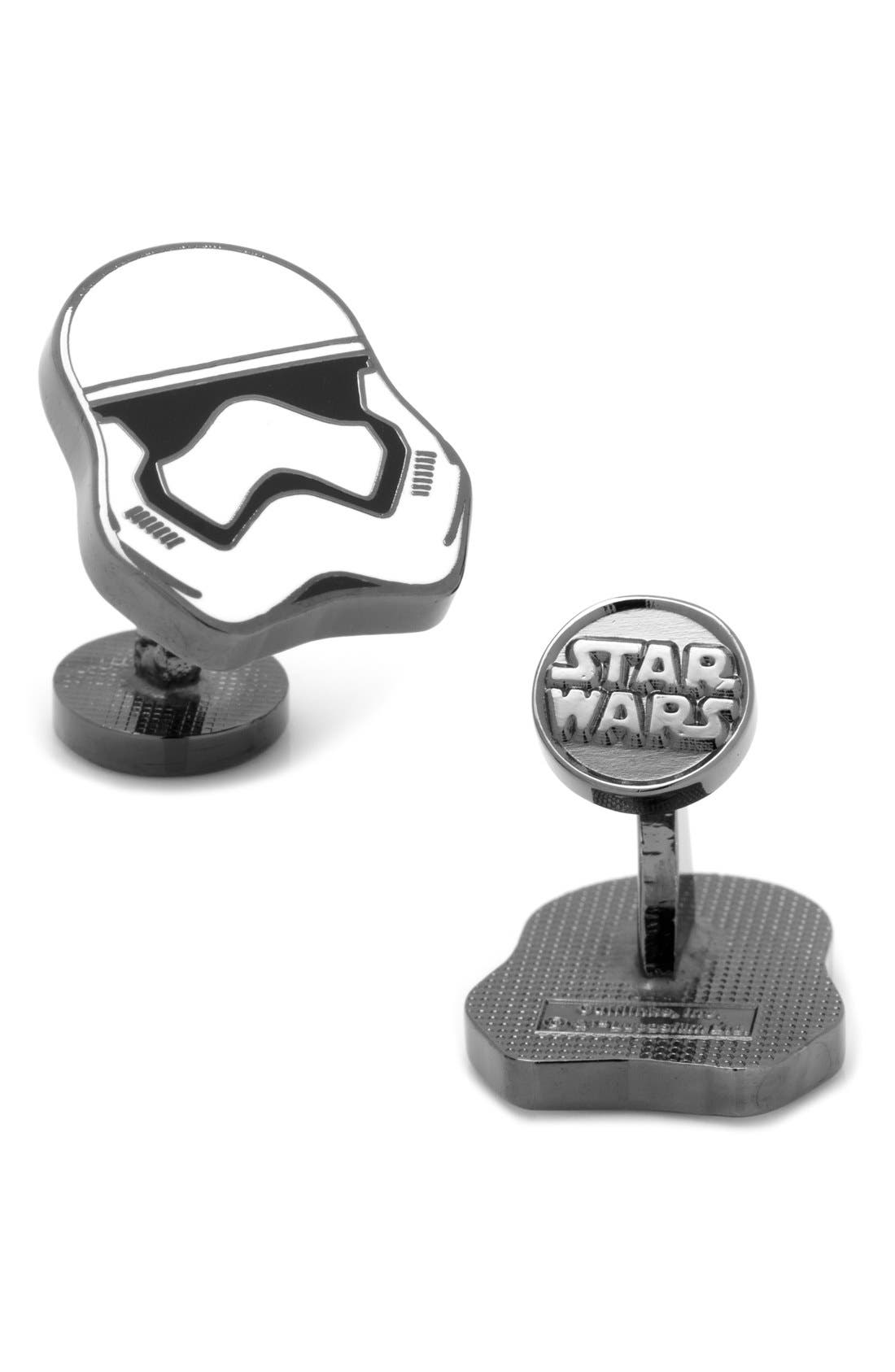 'Star Wars<sup>™</sup> - First Order Stormtrooper' Cuff Links,                             Main thumbnail 1, color,                             White