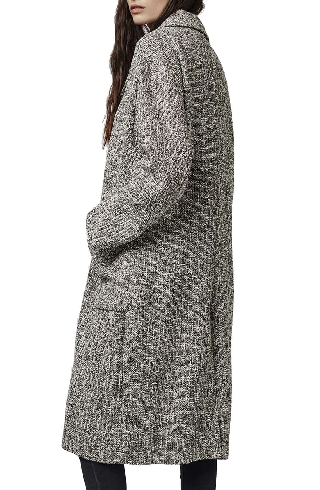 Alternate Image 2  - Topshop Marled Coat