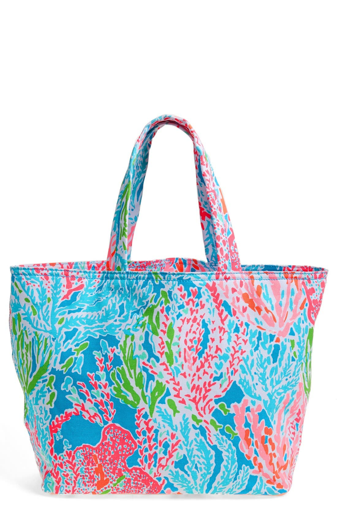 Alternate Image 1 Selected - Lilly Pulitzer® Canvas Beach Tote