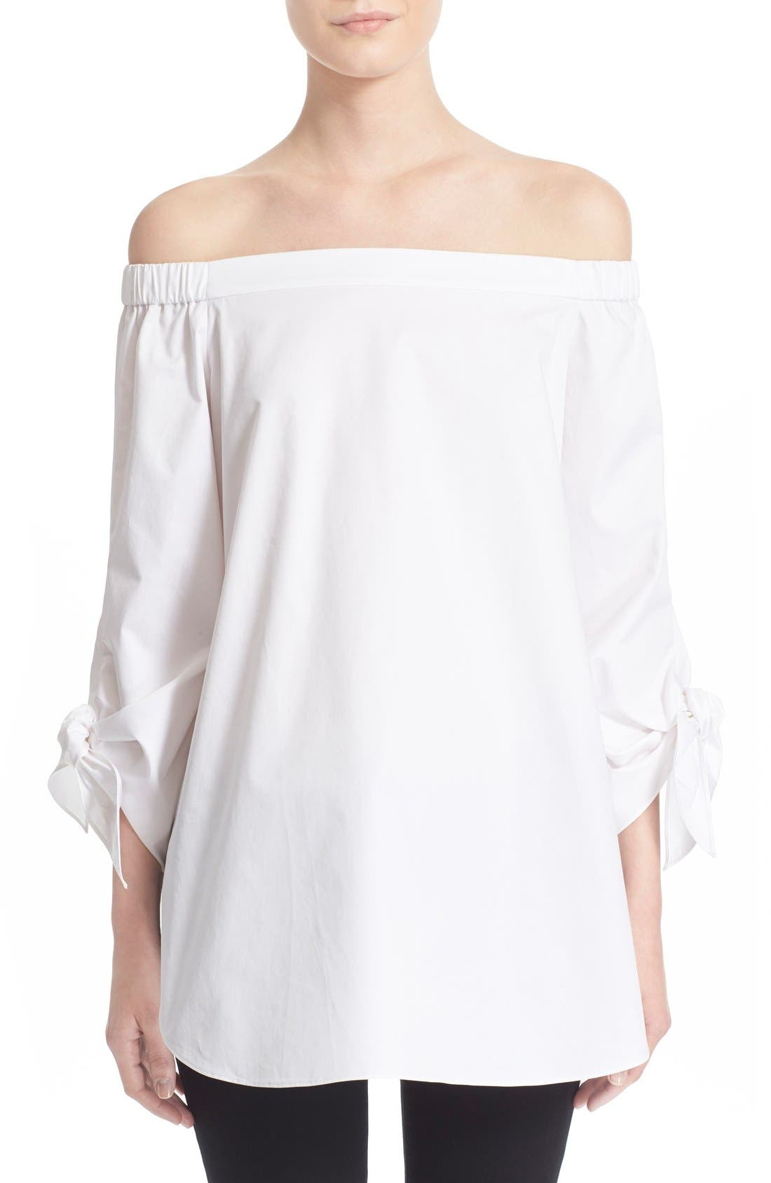 Main Image - Tibi Off the Shoulder Cotton Tunic