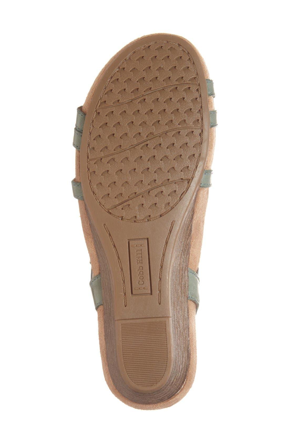 'Hannah' Leather Sandal,                             Alternate thumbnail 4, color,                             Teal Leather