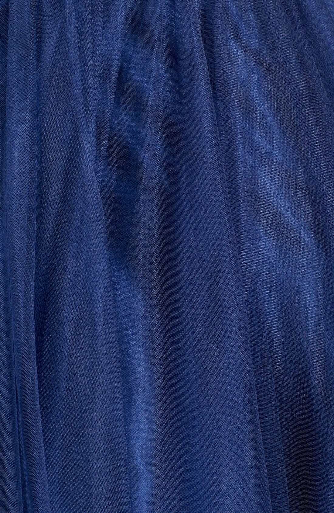 Alternate Image 5  - JVN by Jovani Embellished Top & Mesh Two-Piece Ballgown