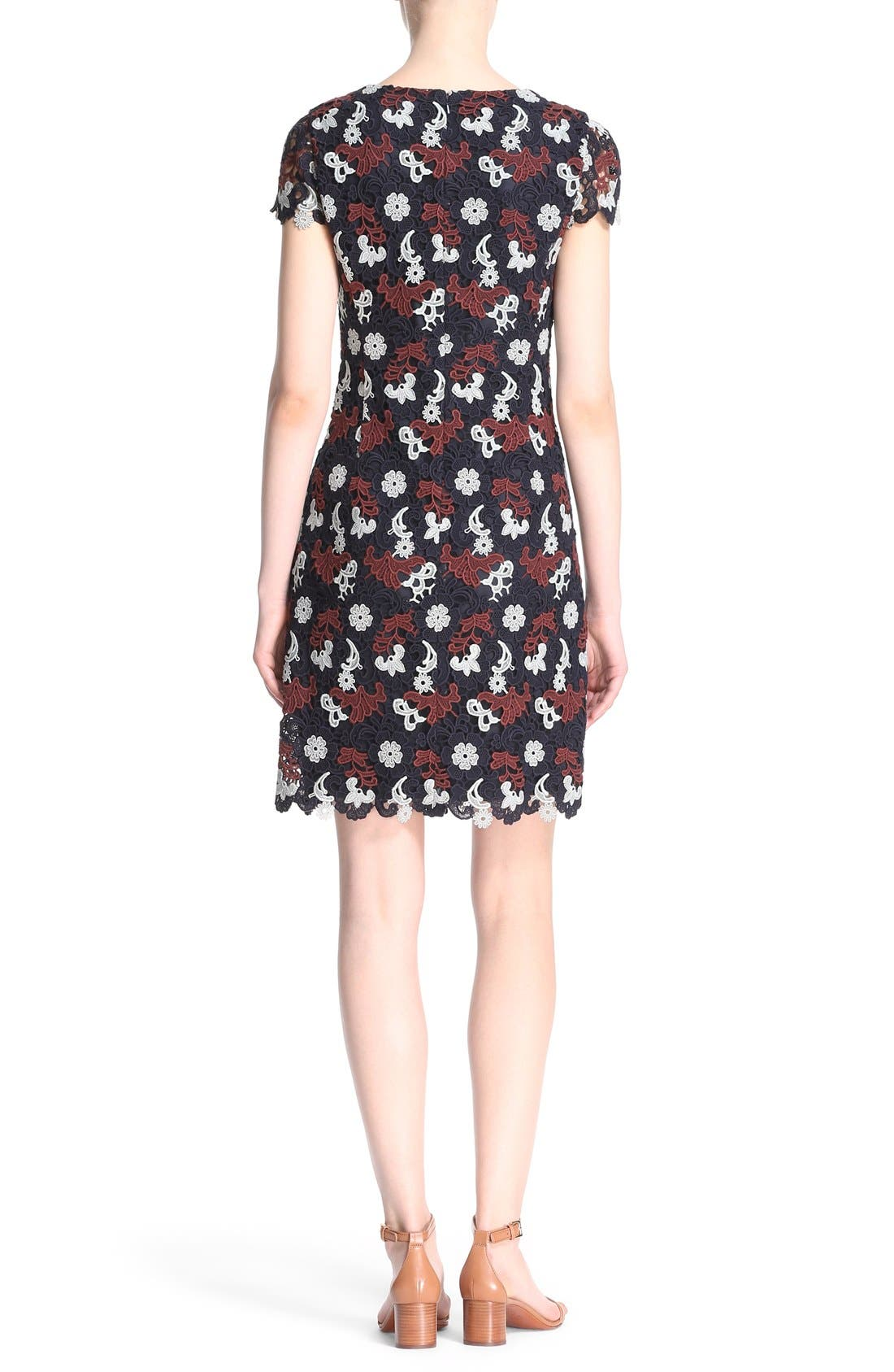 Alternate Image 2  - Tory Burch Cap Sleeve Guipure Lace Dress
