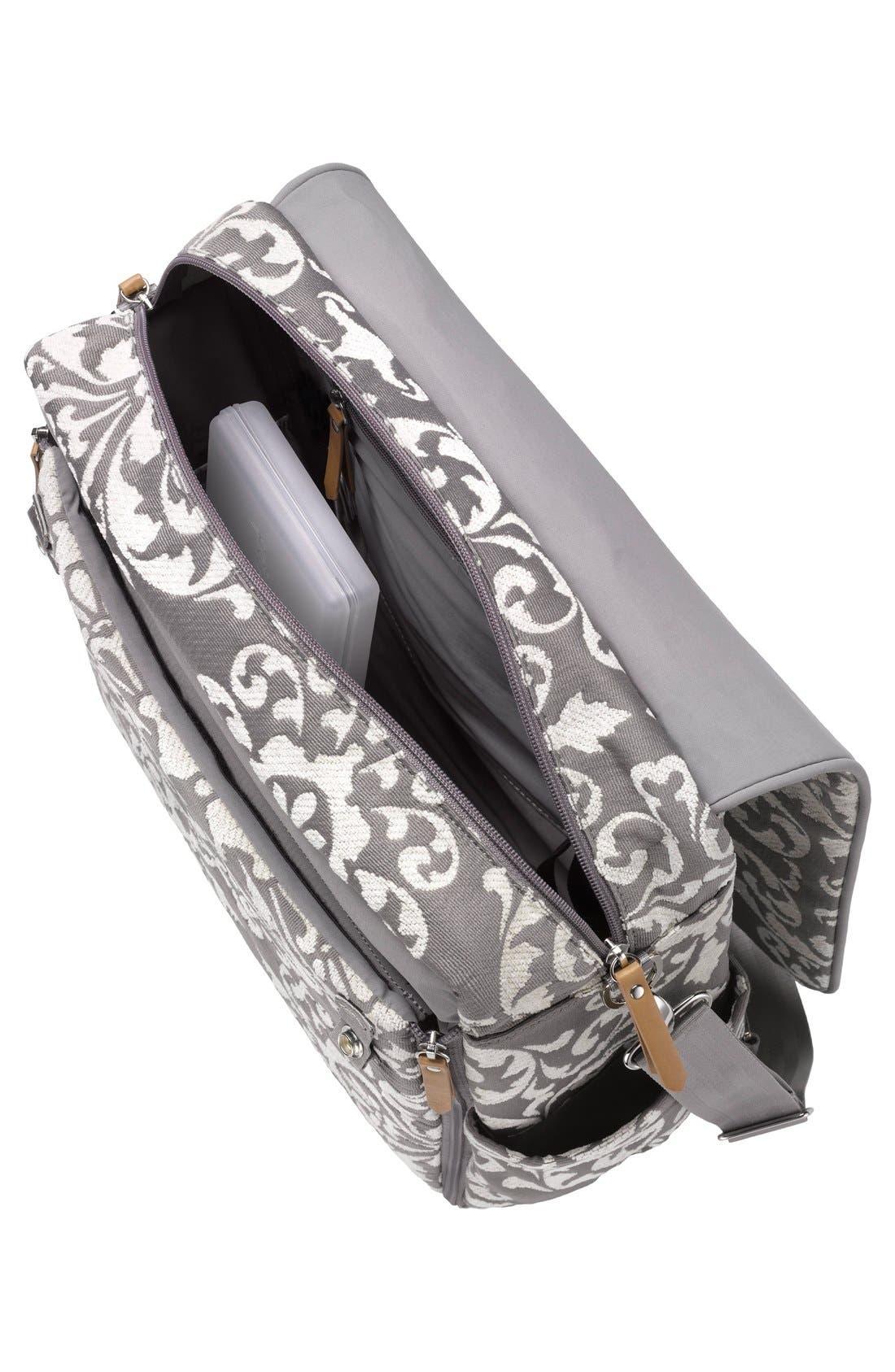 Alternate Image 3  - Petunia Pickle Bottom 'Boxy' Chenille Convertible Diaper Backpack