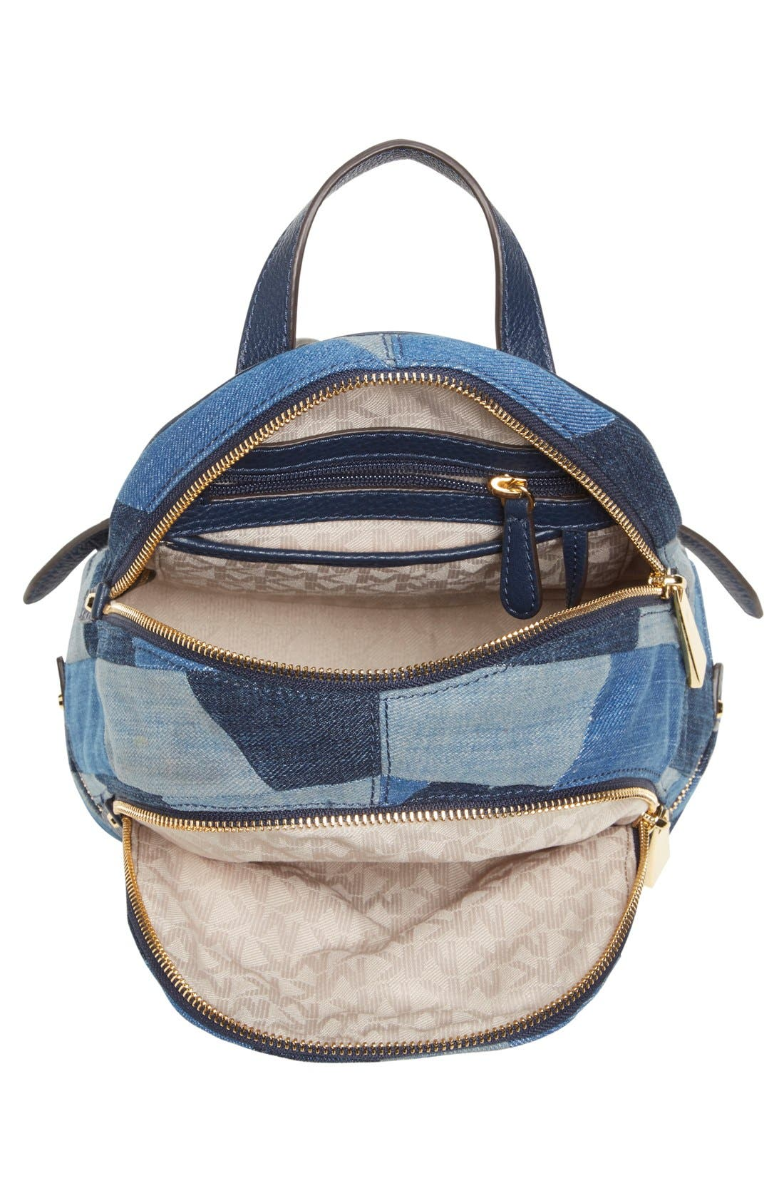 Alternate Image 4  - Michael Kors 'Small Rhea Zip' Denim Backpack
