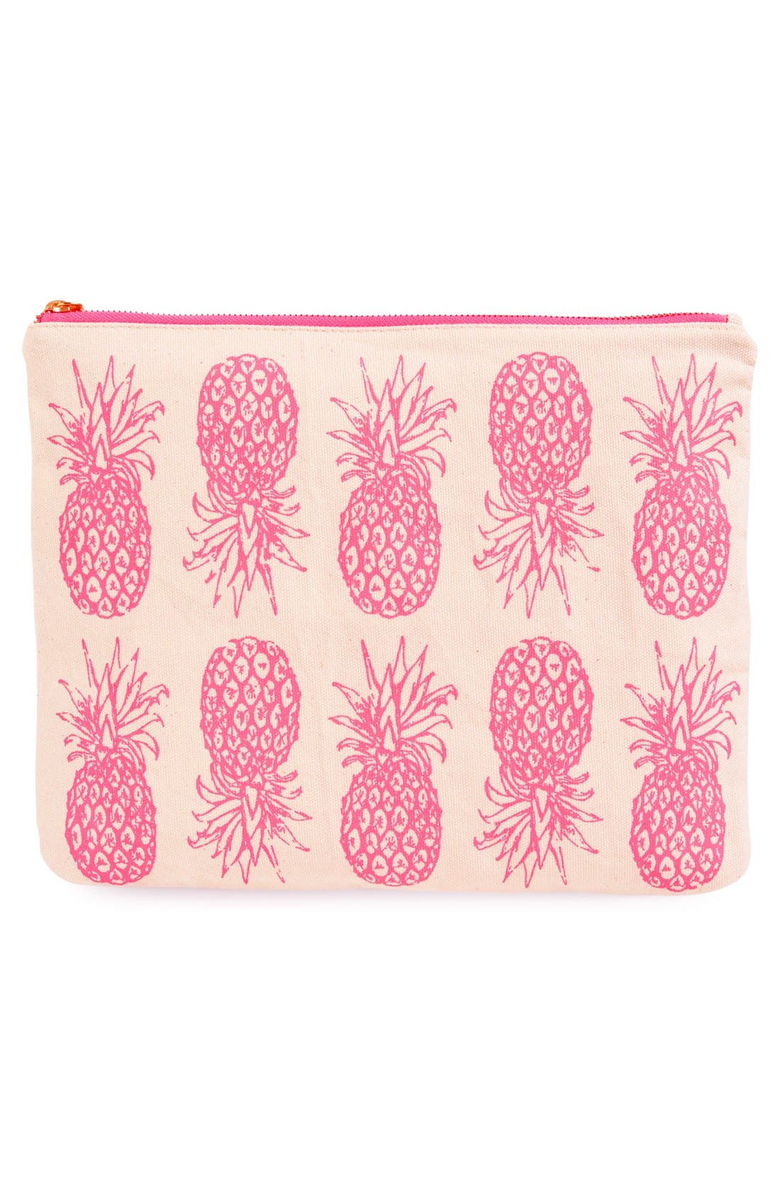 Alternate Image 3  - alola Pineapple Print Canvas Clutch