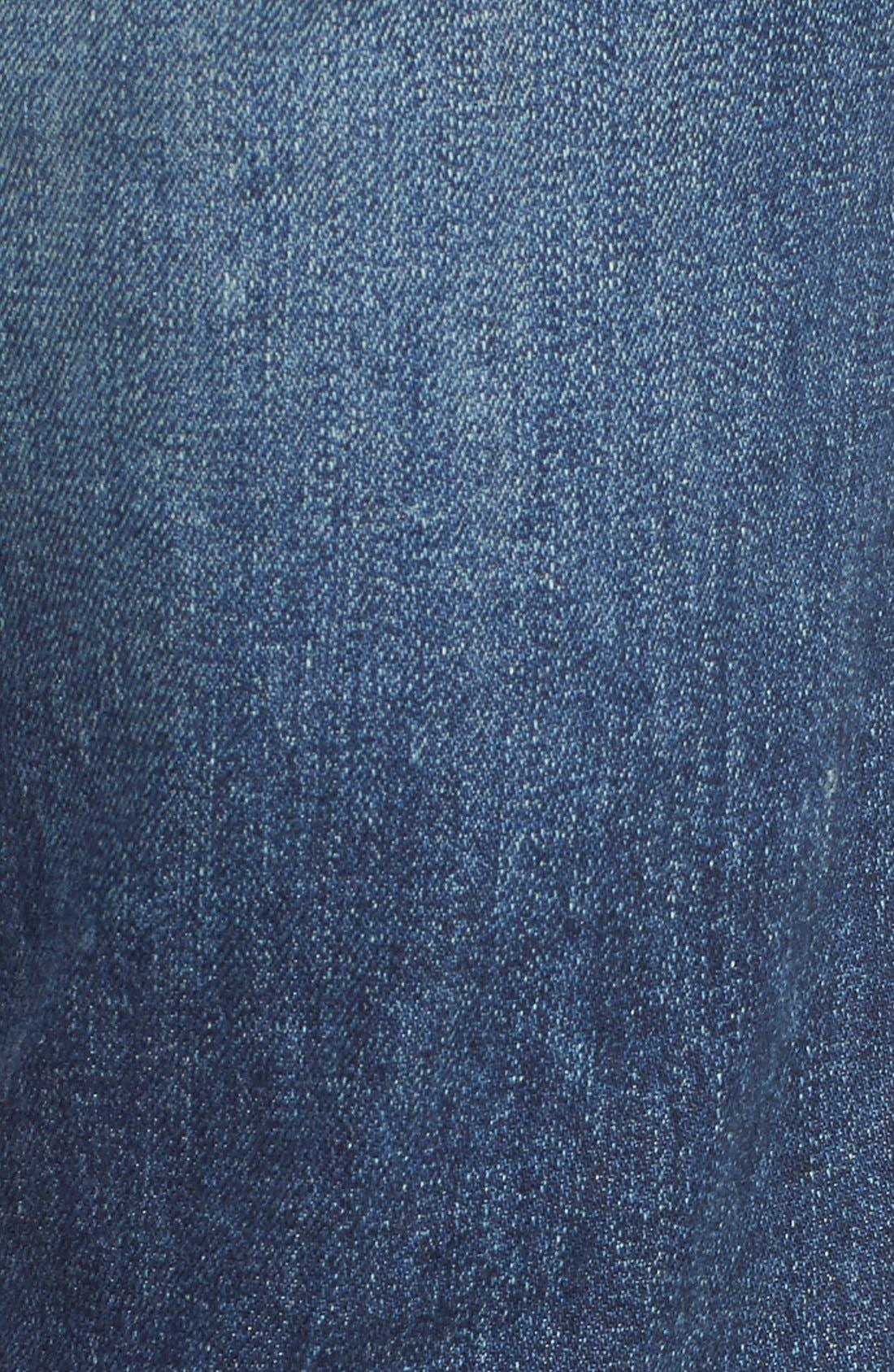 'Elsa' Crop Slim Jeans,                             Alternate thumbnail 5, color,                             Dossier