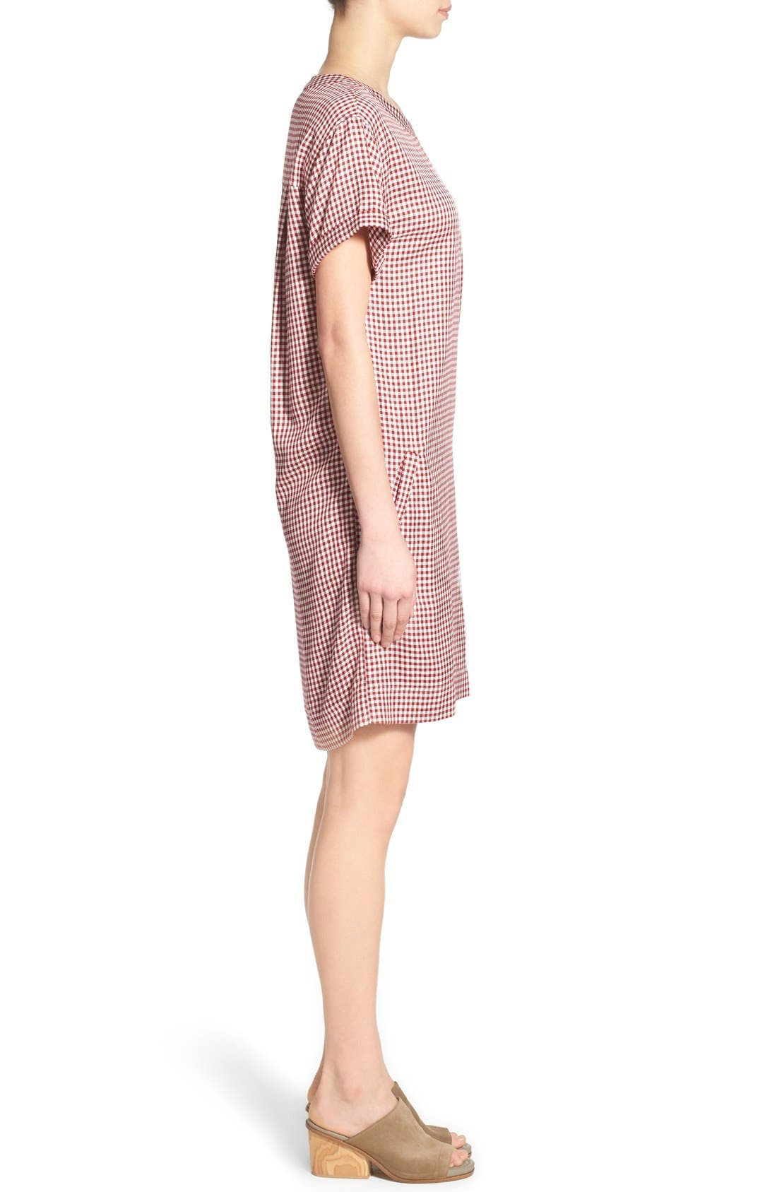 Alternate Image 3  - Madewell 'Filmscore' Gingham Check Shirt-Sleeve Dress