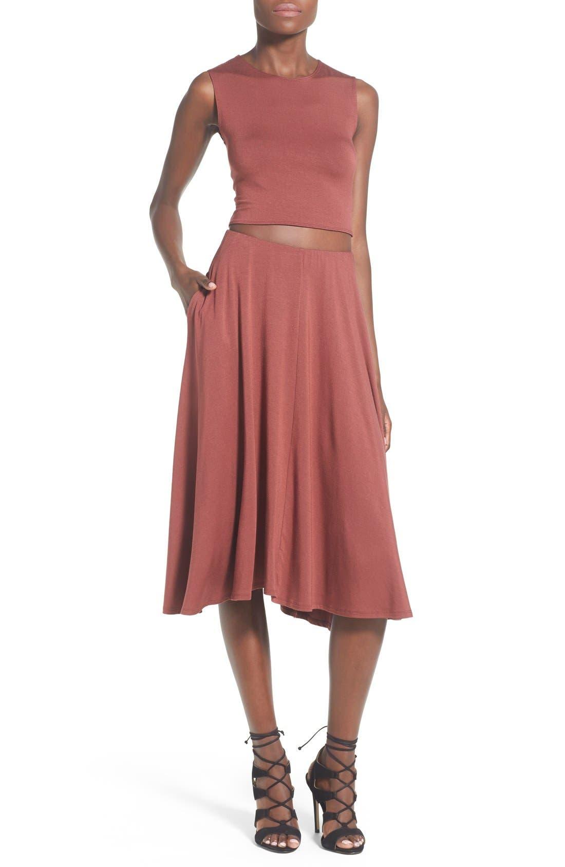 Alternate Image 2  - Leith Circle Midi Skirt