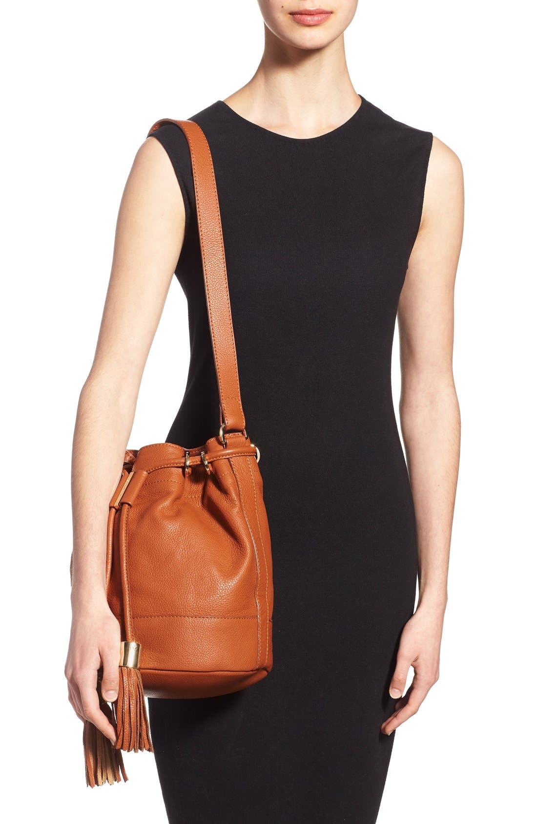 Alternate Image 2  - See by Chloé 'Vicki' Small Leather Bucket Bag