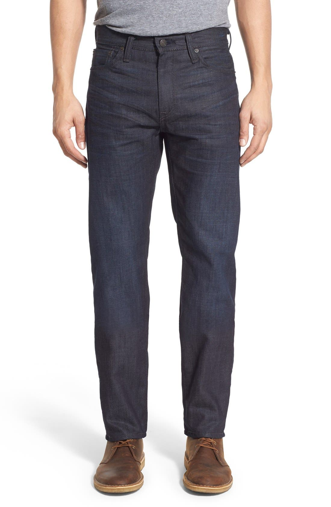 Main Image - Levi's® 513™ Slim Straight Leg Jeans (Scraper Dark)