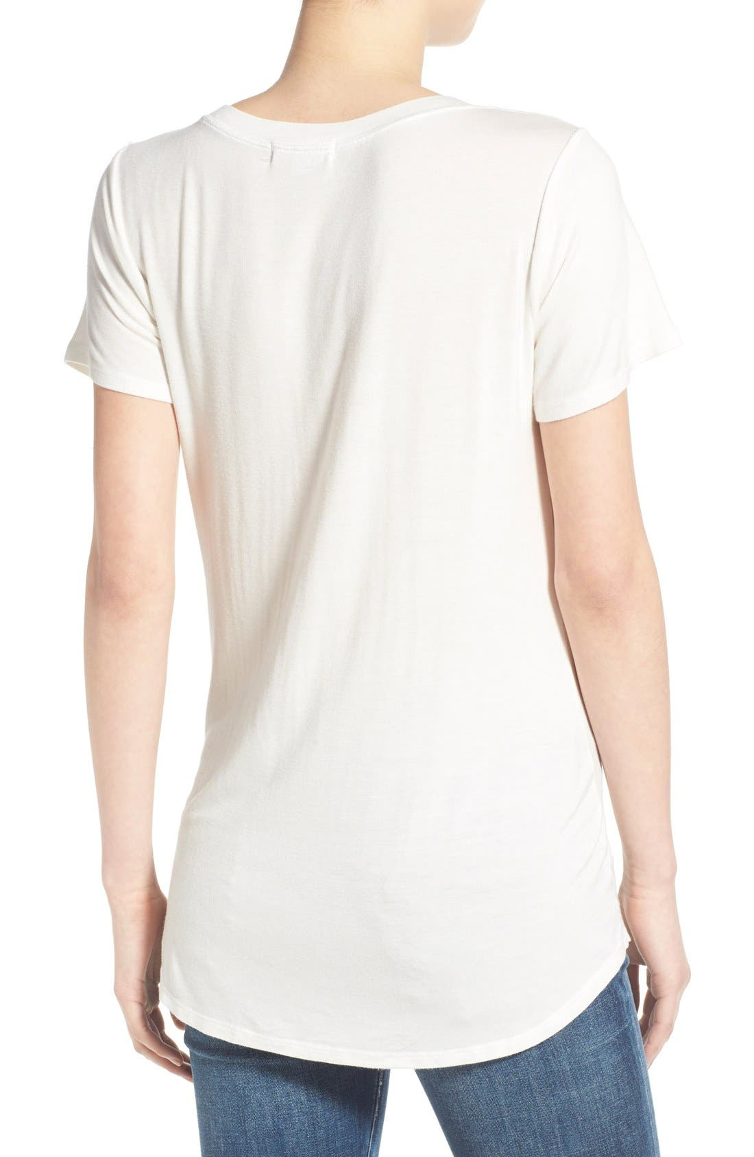 Alternate Image 2  - Socialite V-Neck Pocket Tee