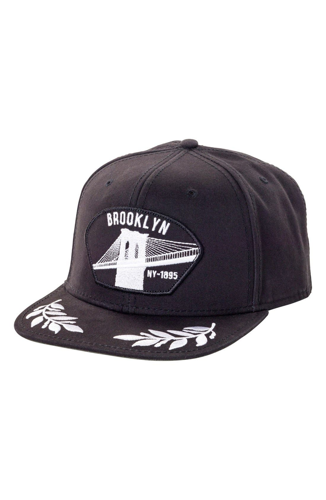 'Brooklyn NY' Baseball Cap,                         Main,                         color, Black