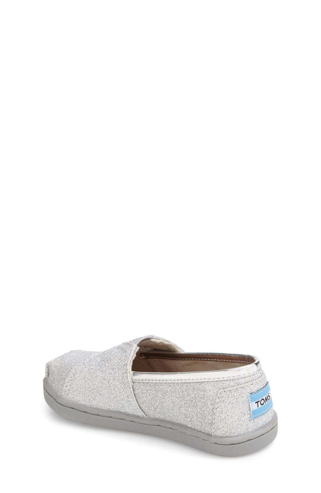 Alternate Image 2  - TOMS 'Classic Tiny - Glimmer' Slip-On (Baby, Walker & Toddler)