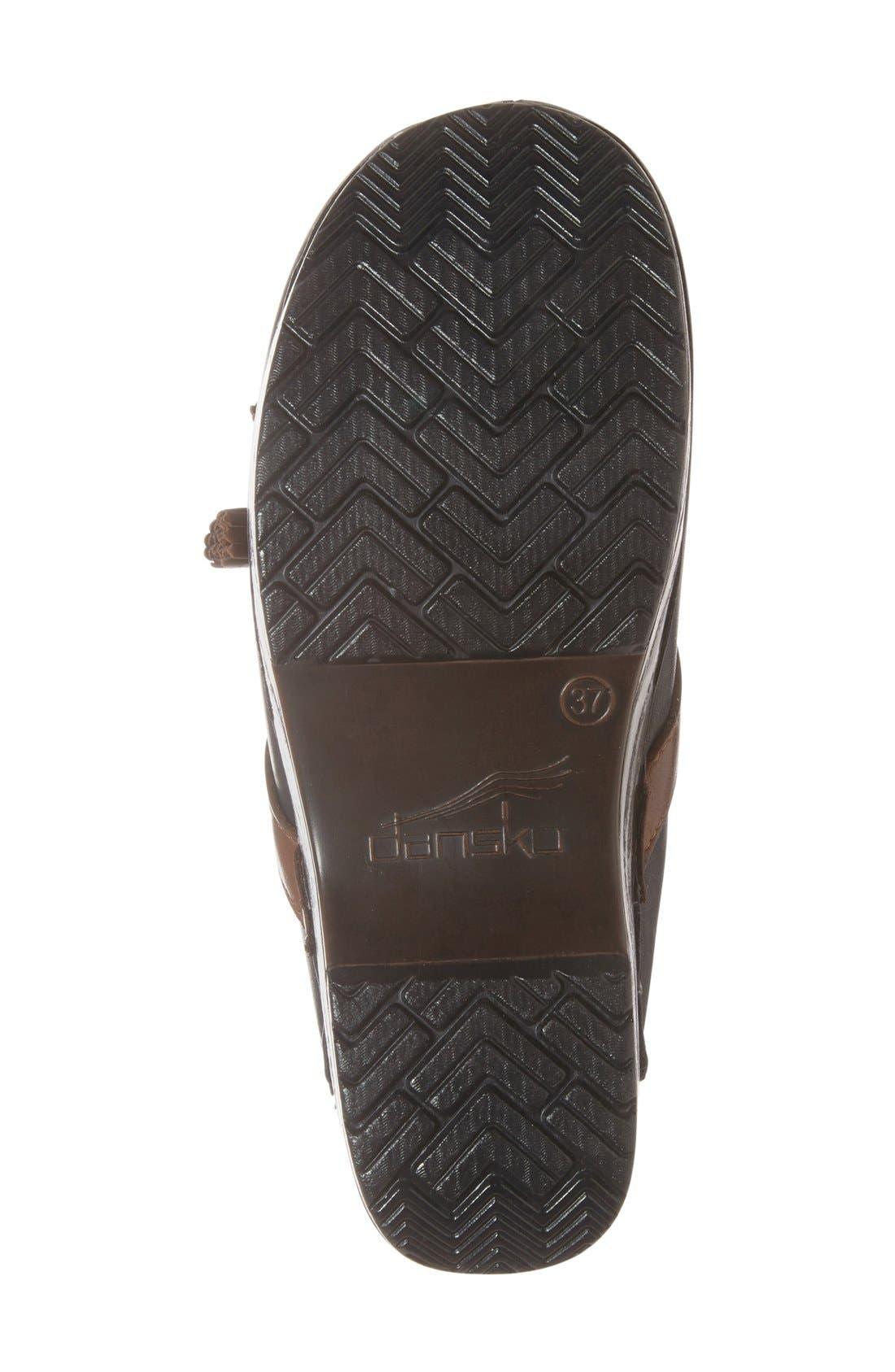 'Shandi' Clog,                             Alternate thumbnail 4, color,                             Black Leather