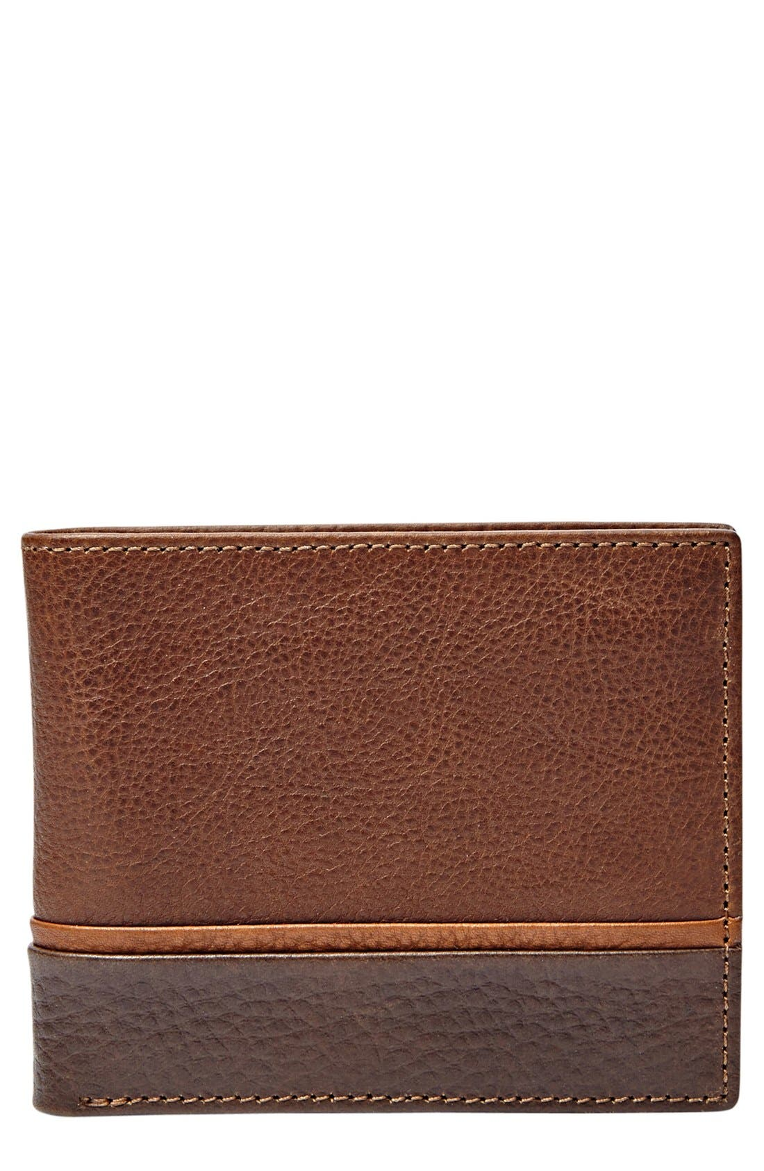 Fossil 'Ian' Leather Bifold Wallet