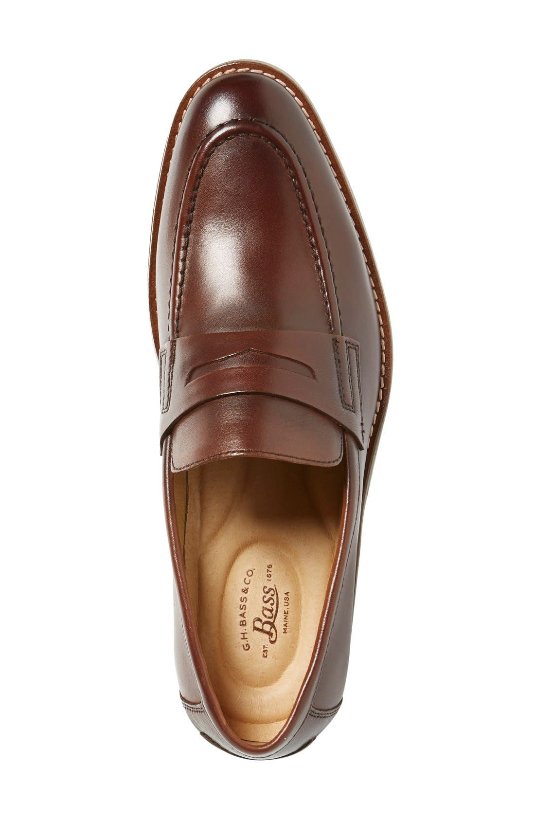 'Conner' Penny Loafer,                             Alternate thumbnail 3, color,                             British Tan Leather