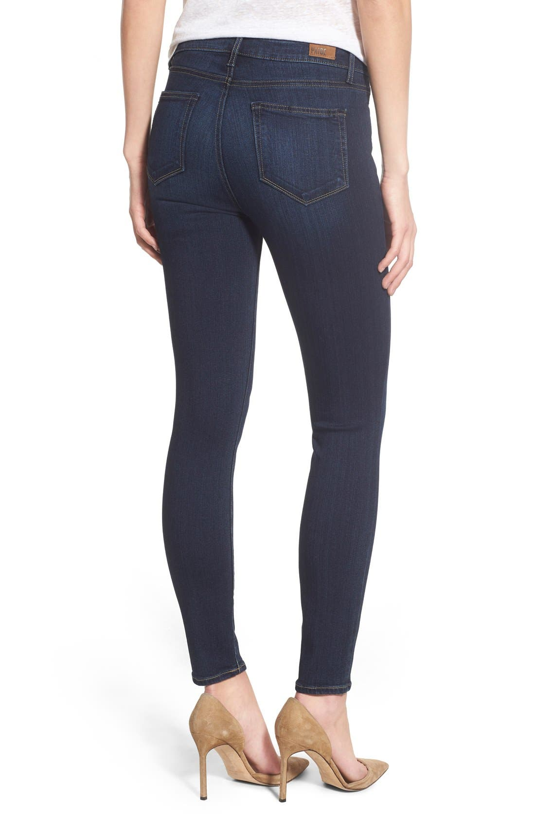 Transcend - Hoxton High Waist Ankle Ultra Skinny Jeans,                             Alternate thumbnail 2, color,                             Hartmann