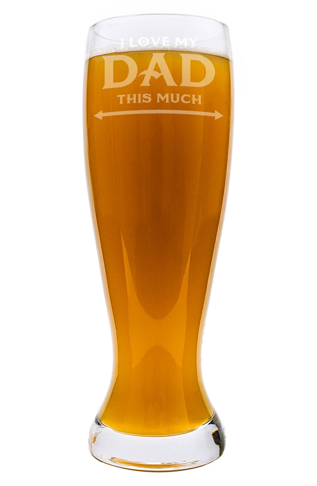 'Father's Day' Pilsner Glass,                             Alternate thumbnail 4, color,                             Clear