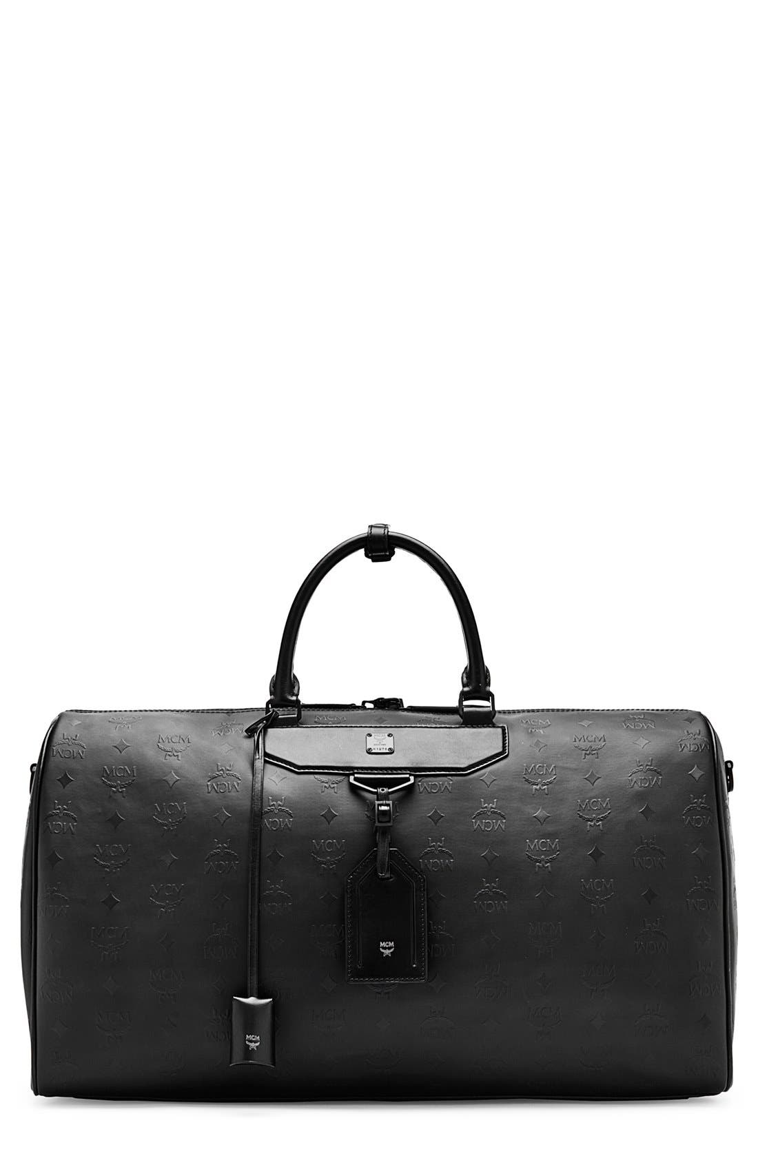 Alternate Image 1 Selected - MCM 'Large Nomad' Odeon Coated Canvas Weekend Bag