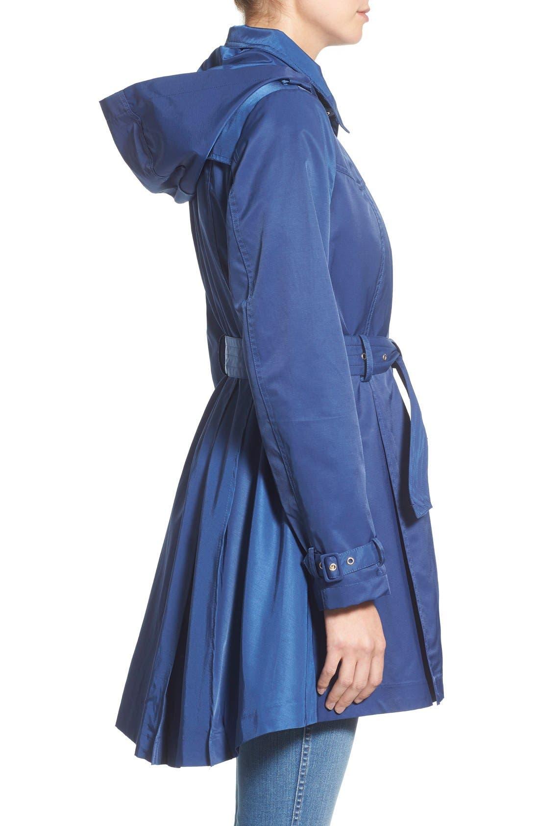 Alternate Image 3  - Steve Madden Trench Coat with Detachable Hood