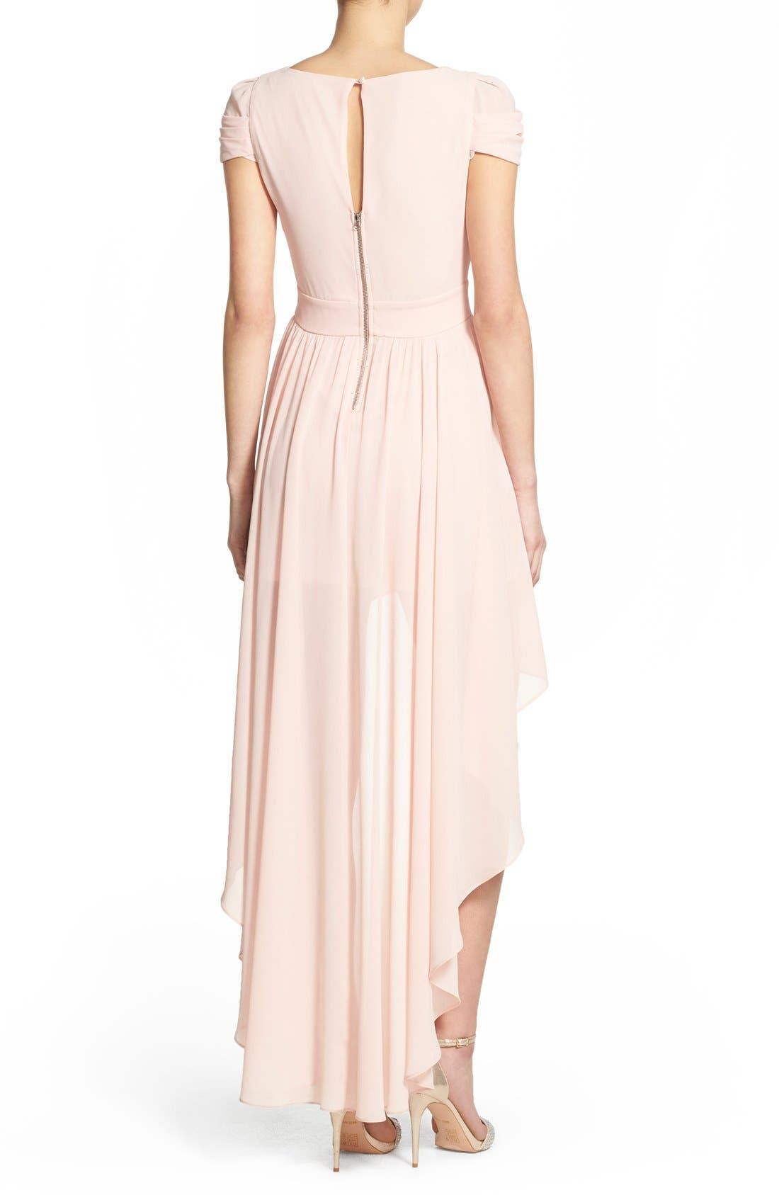 Alternate Image 2  - TFNC 'Hadie' High/Low Ruched Dress