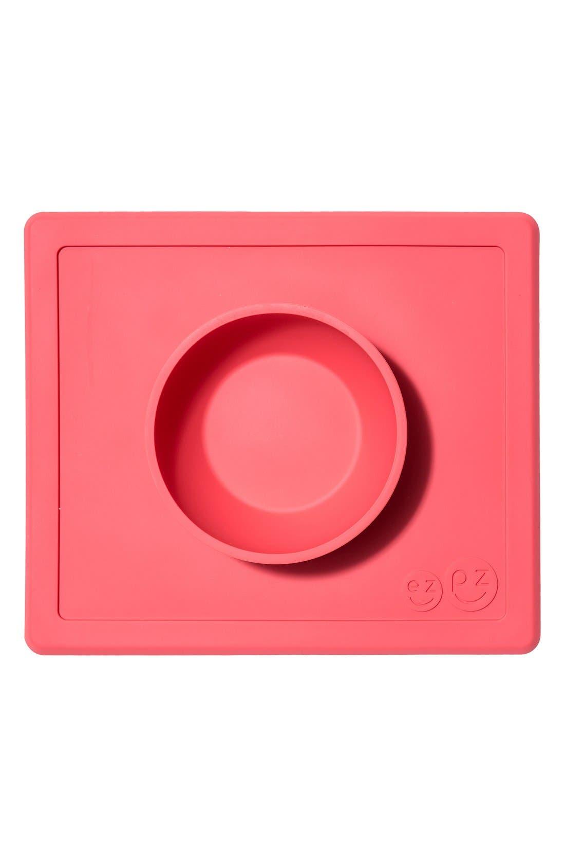 Alternate Image 1 Selected - ezpz 'Happy Bowl' Silicone Feeding Mat