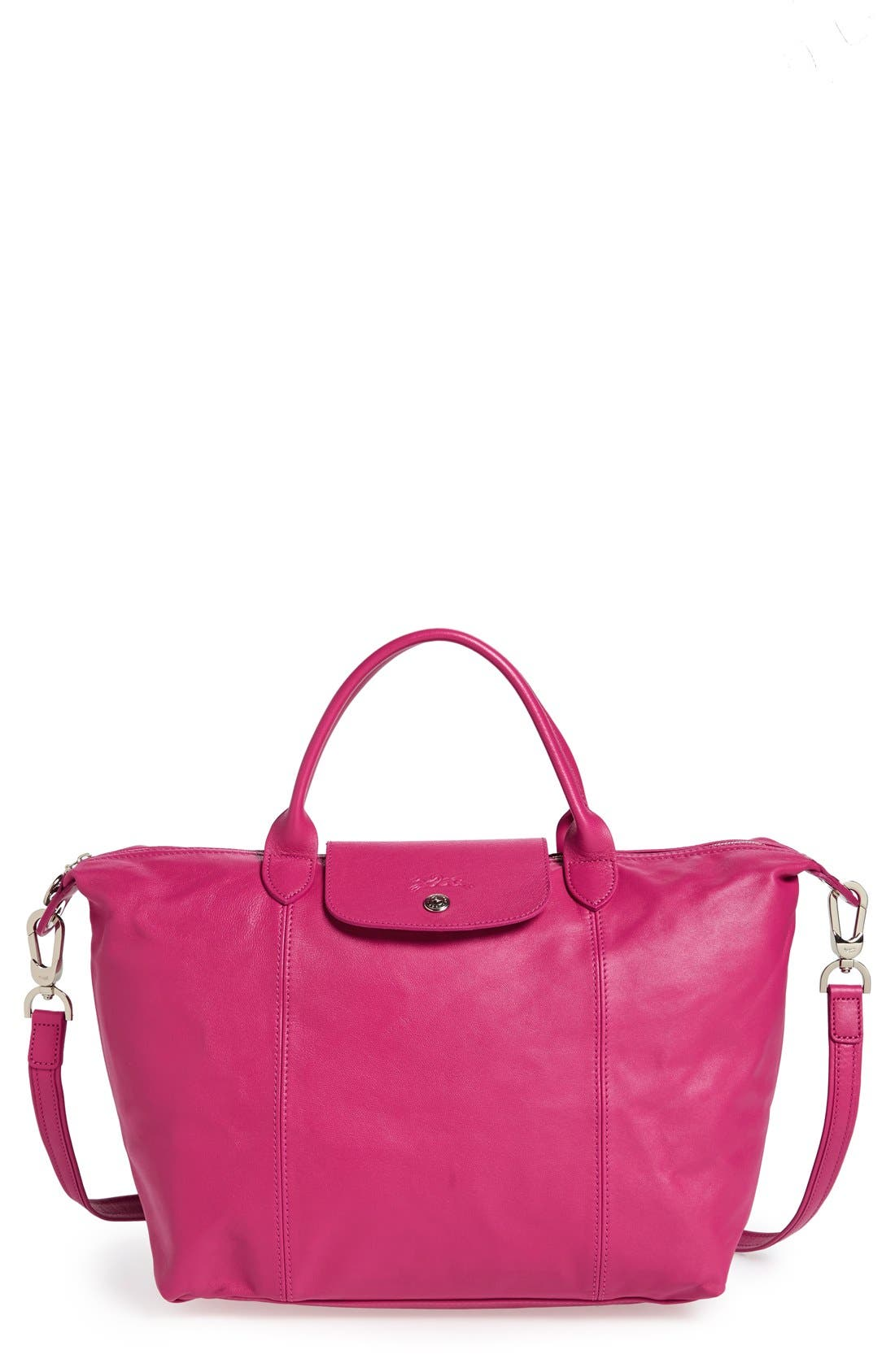 Main Image - Longchamp 'Le Pliage Cuir' Leather Handbag
