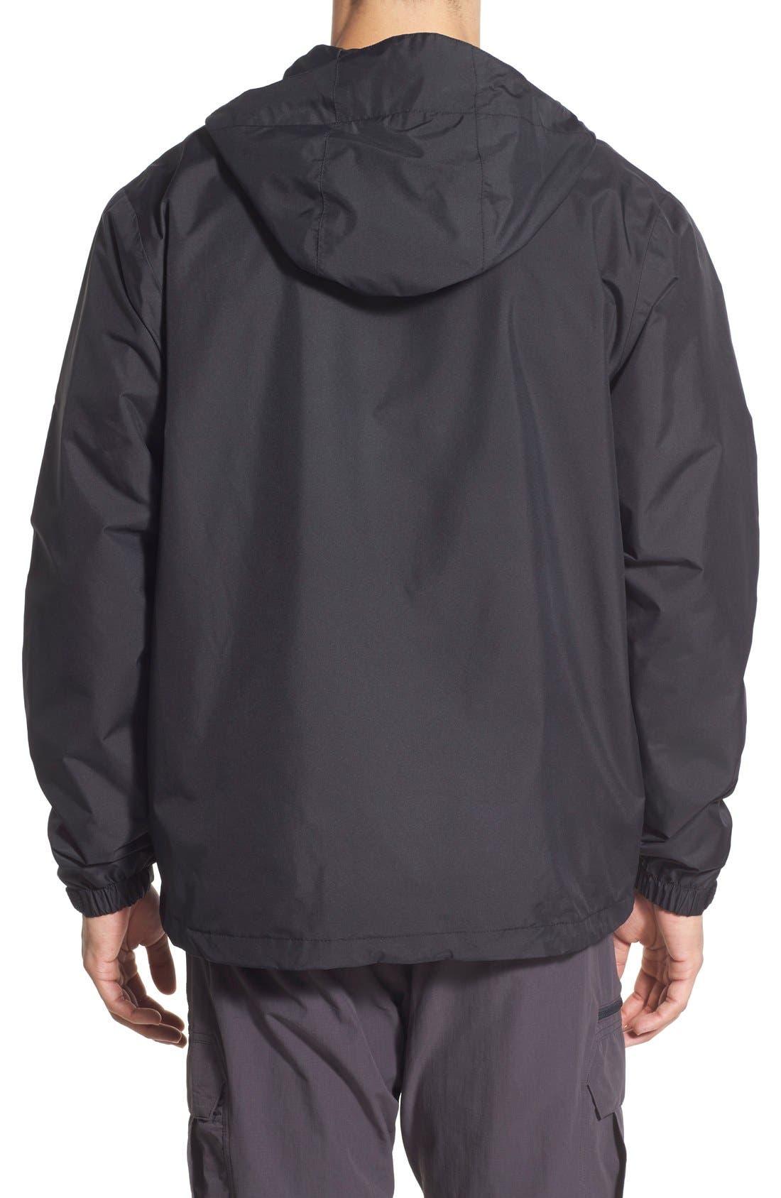 'Vancouver' Packable Rain Jacket,                             Alternate thumbnail 2, color,                             Black