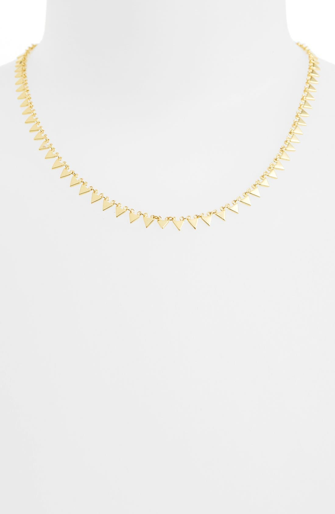 Triangle Collar Necklace,                         Main,                         color, Gold