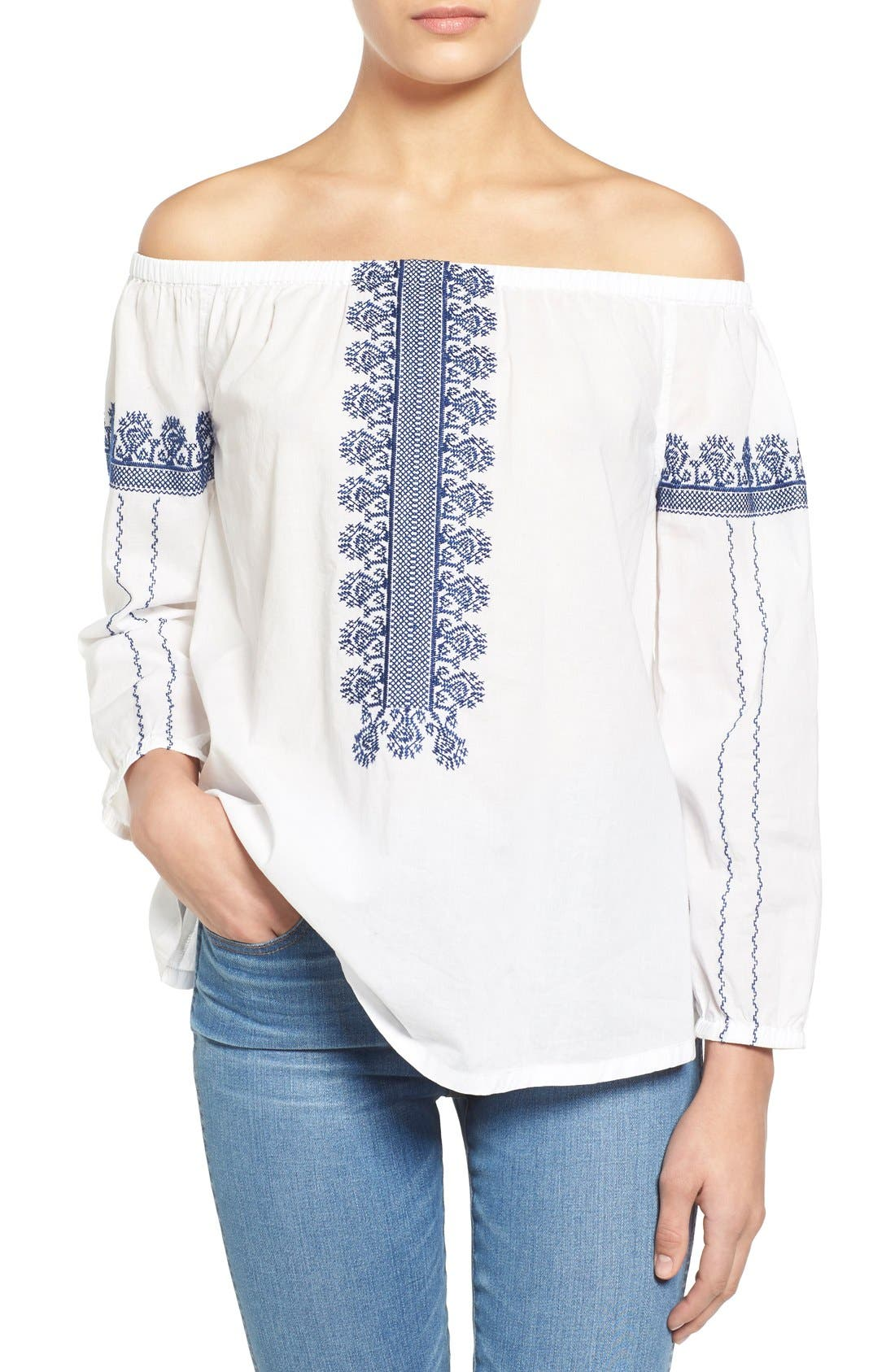 Alternate Image 1 Selected - Madewell 'Folktale' Off the Shoulder Top
