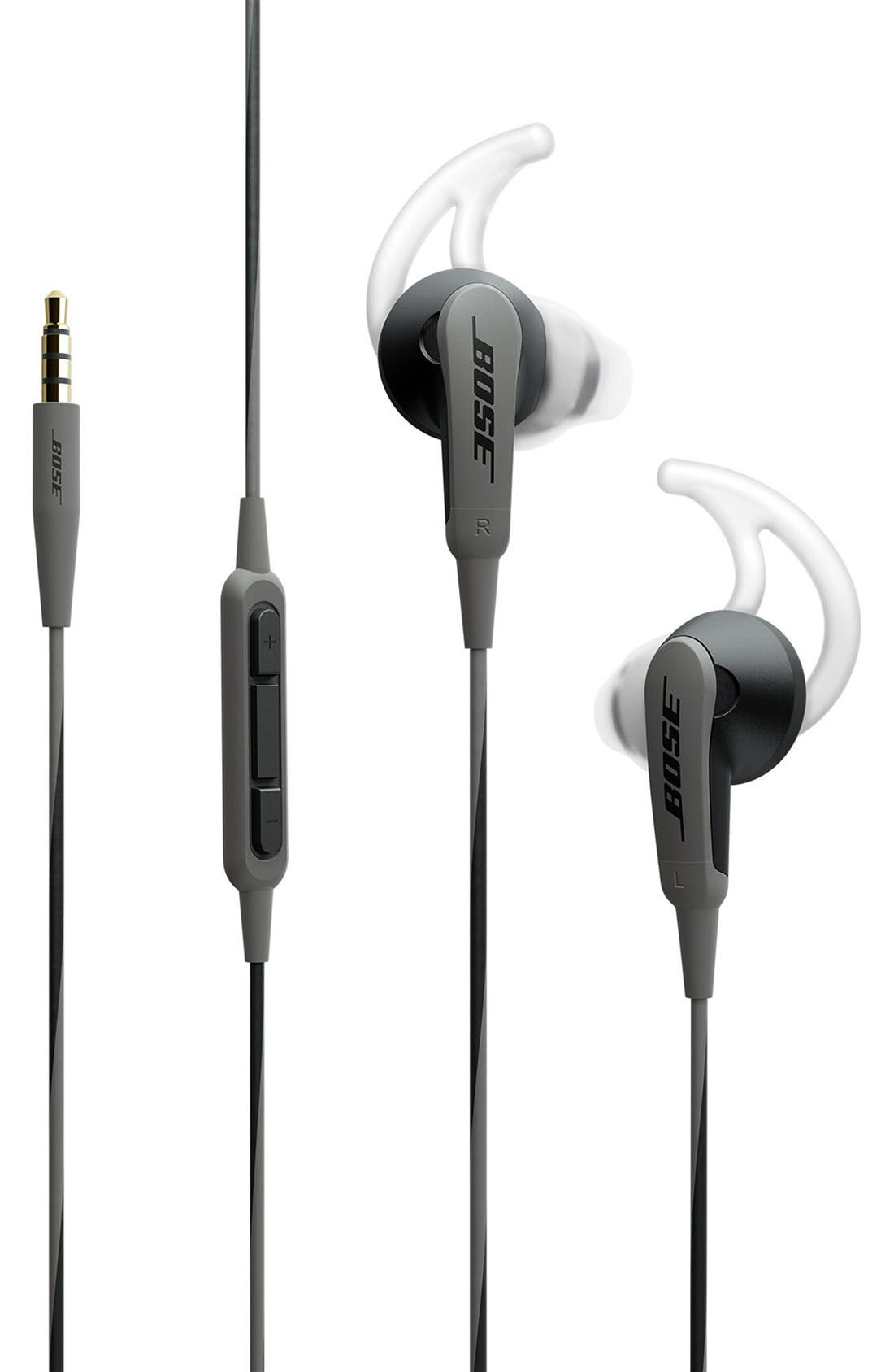 SoundSport<sup>®</sup> In-Ear Headphones for iPhone,                             Main thumbnail 1, color,                             Charcoal