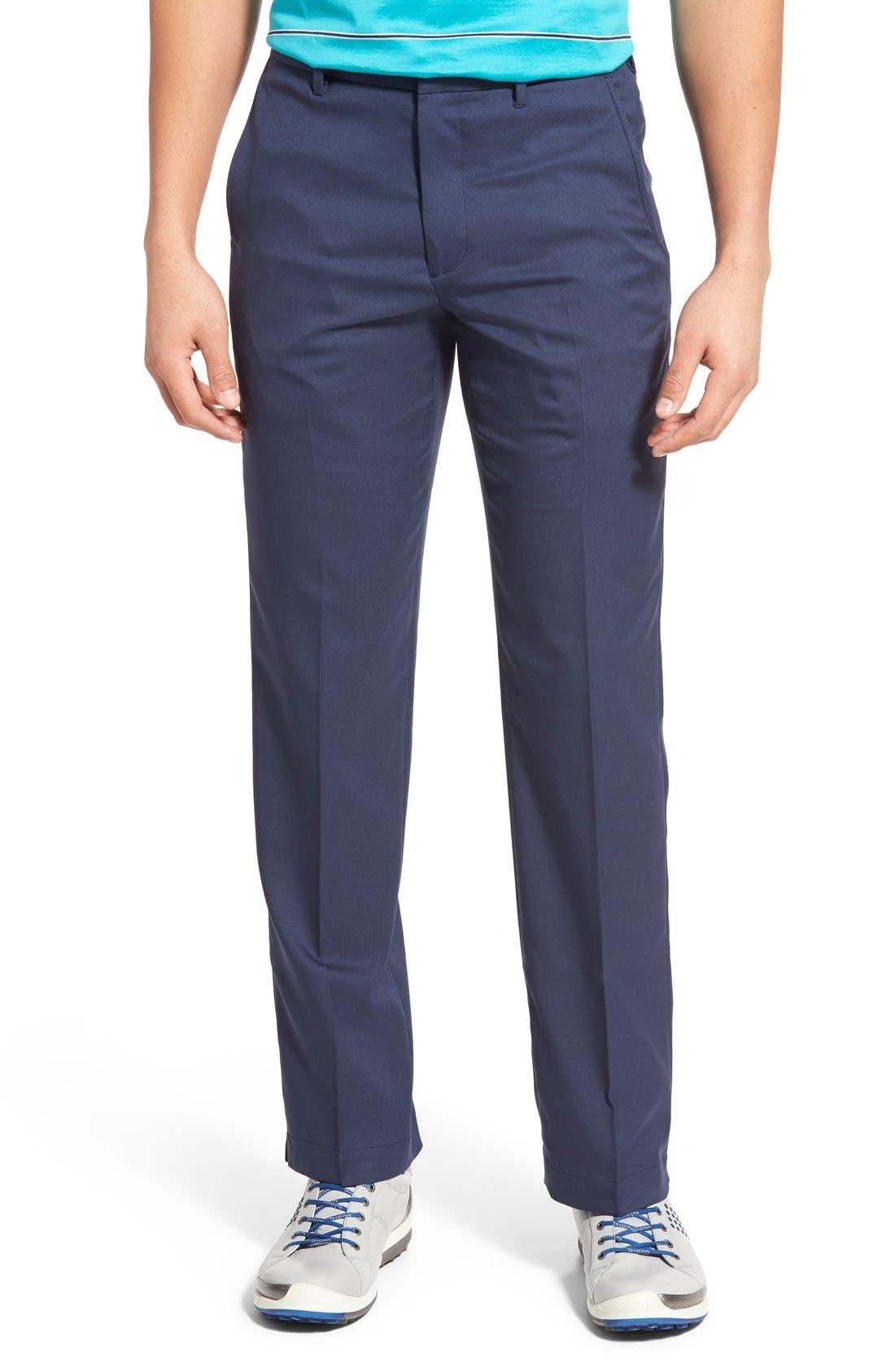 Main Image - Bobby Jones 'Tech' Flat Front Wrinkle Free Golf Pants