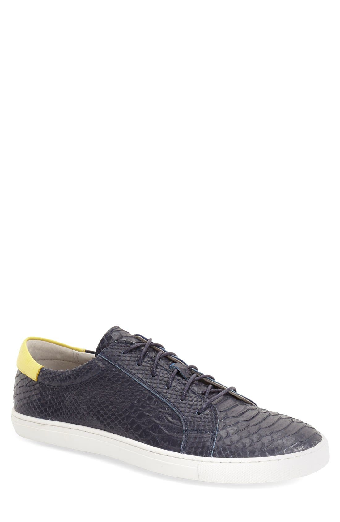 'Riff' Sneaker,                         Main,                         color, Navy Leather