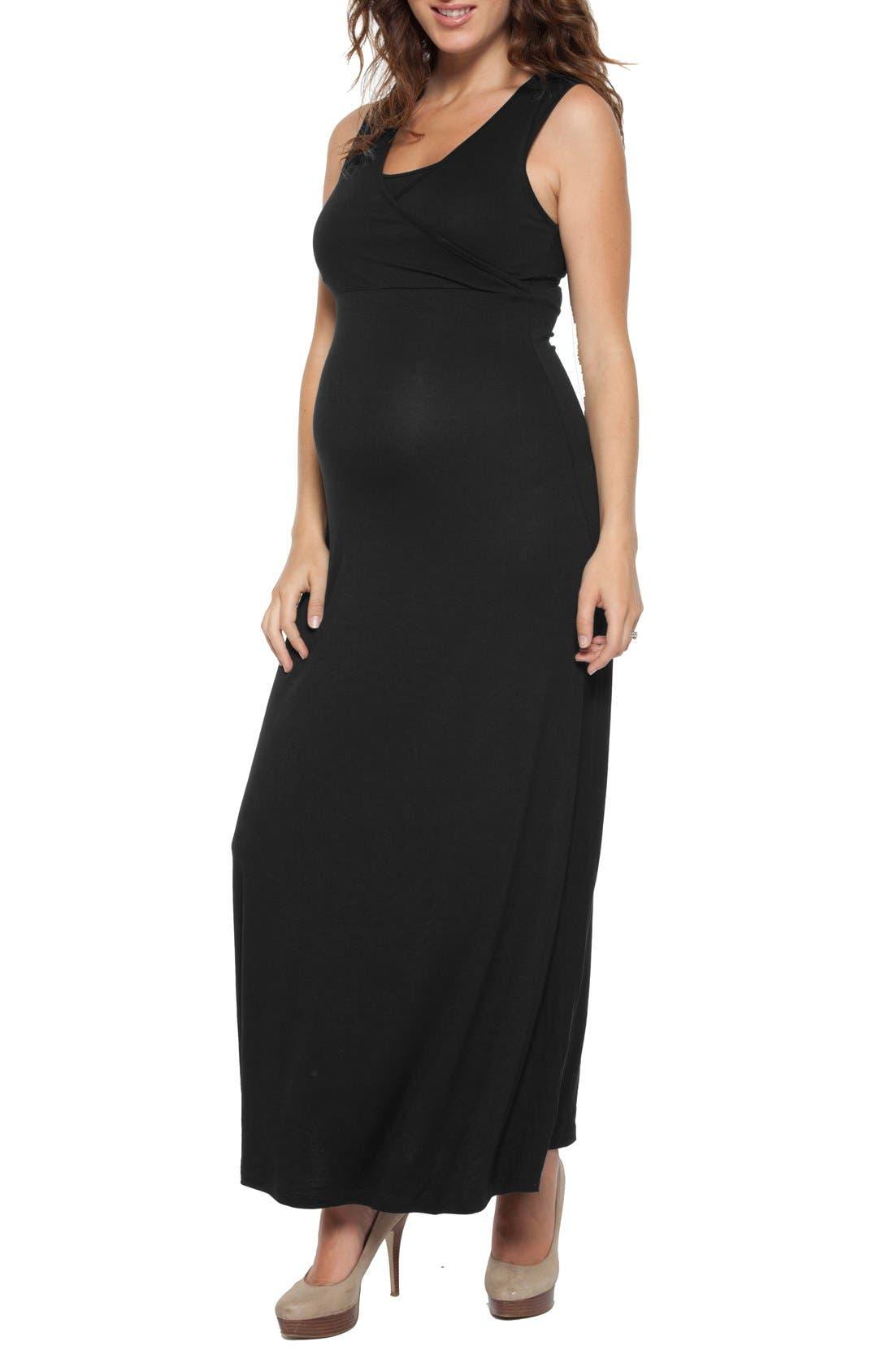 Alternate Image 1 Selected - Nom Maternity Jersey Maternity/Nursing Dress