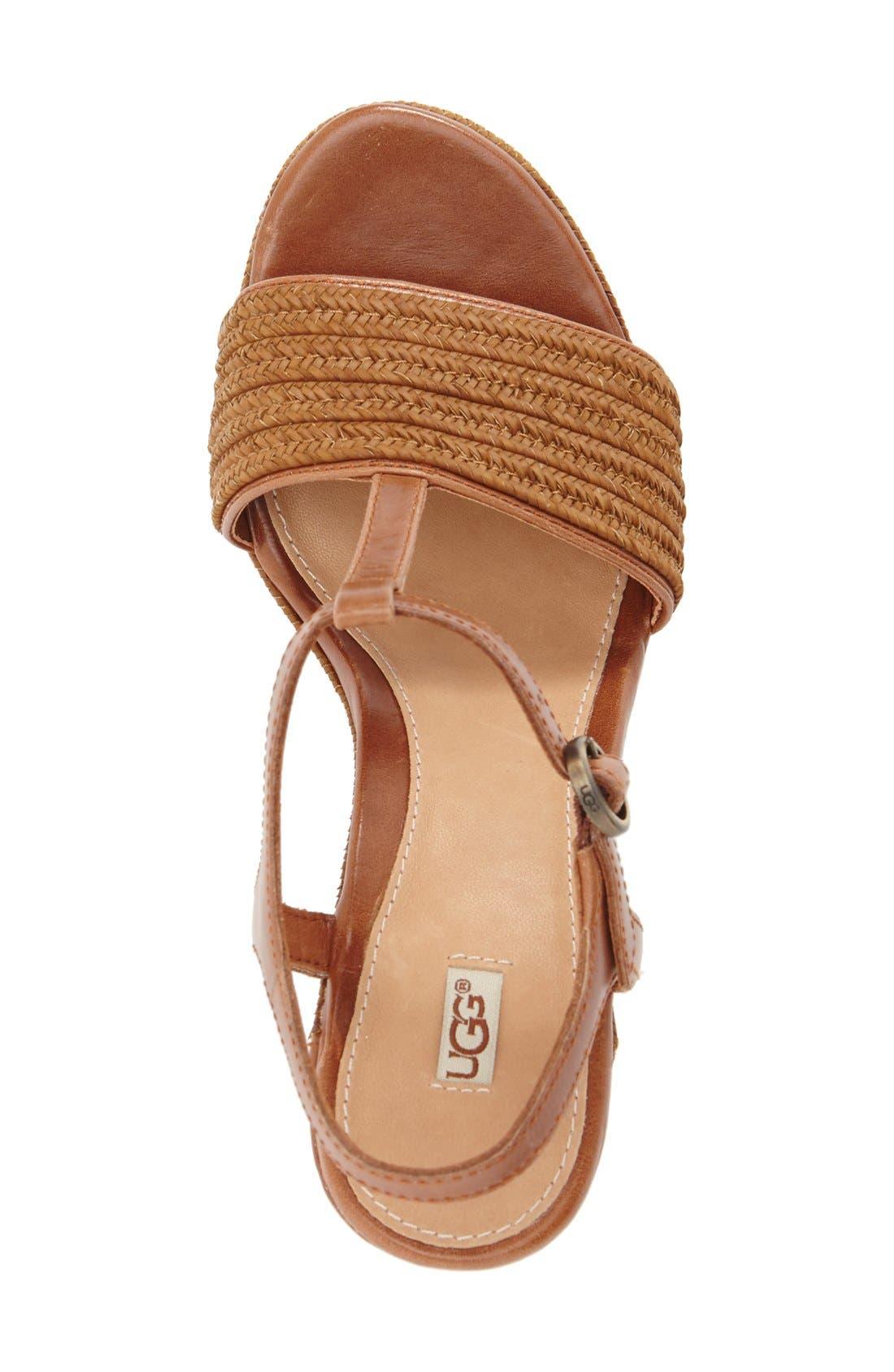 Alternate Image 3  - UGG® 'Fitchie' T-Strap Wedge Sandal (Women)