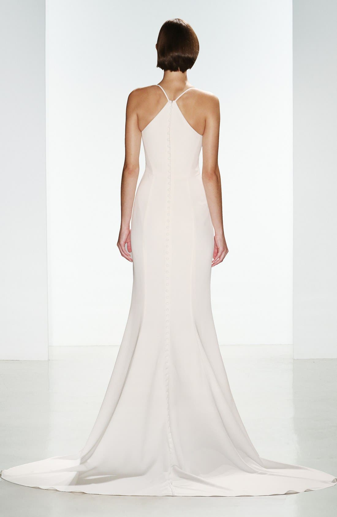 Alternate Image 2  - nouvelle AMSALE 'Audrey' Crepe Racerback Gown (In Stores Only)