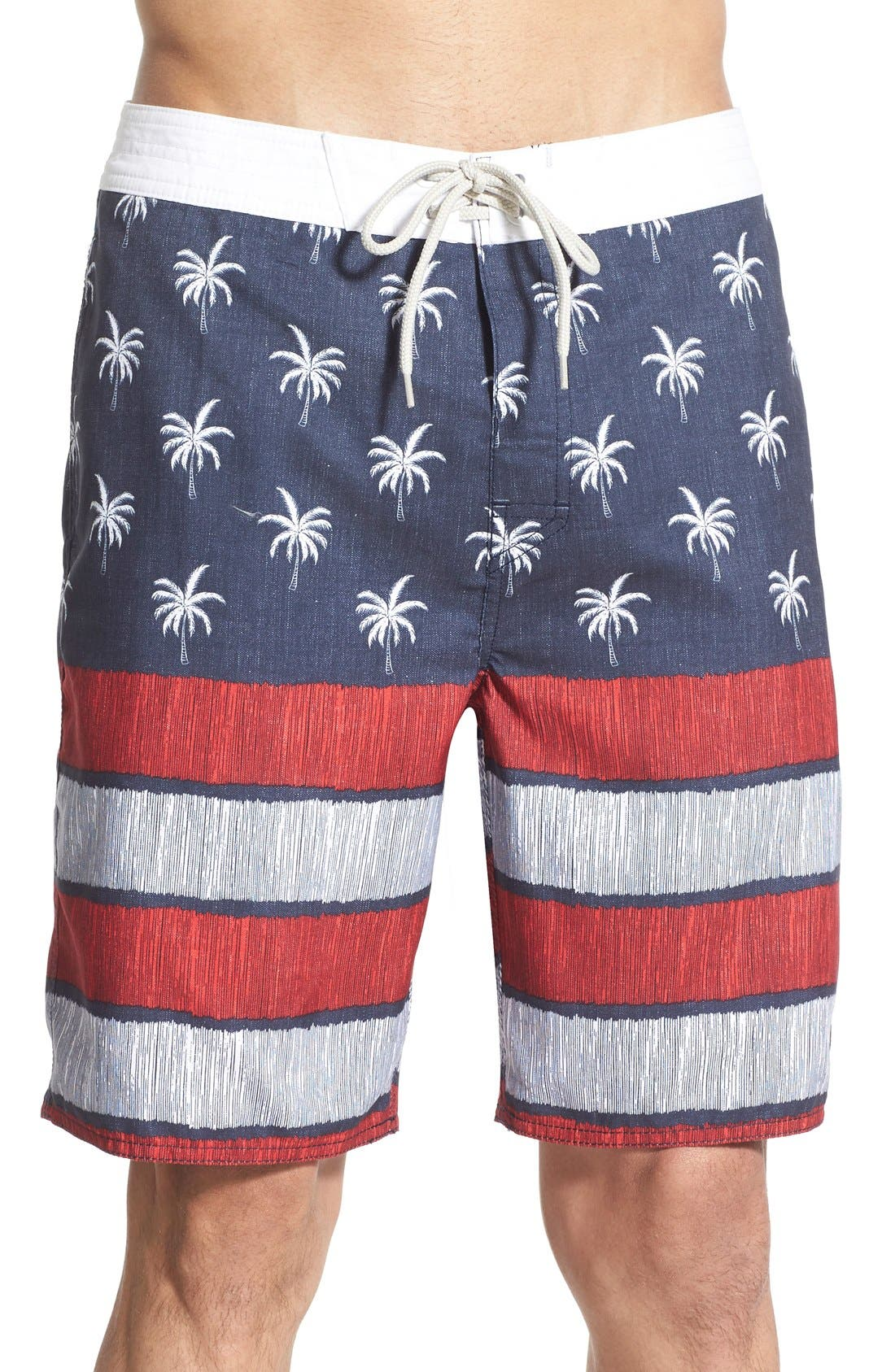 'Independence' Board Shorts,                         Main,                         color, Navy