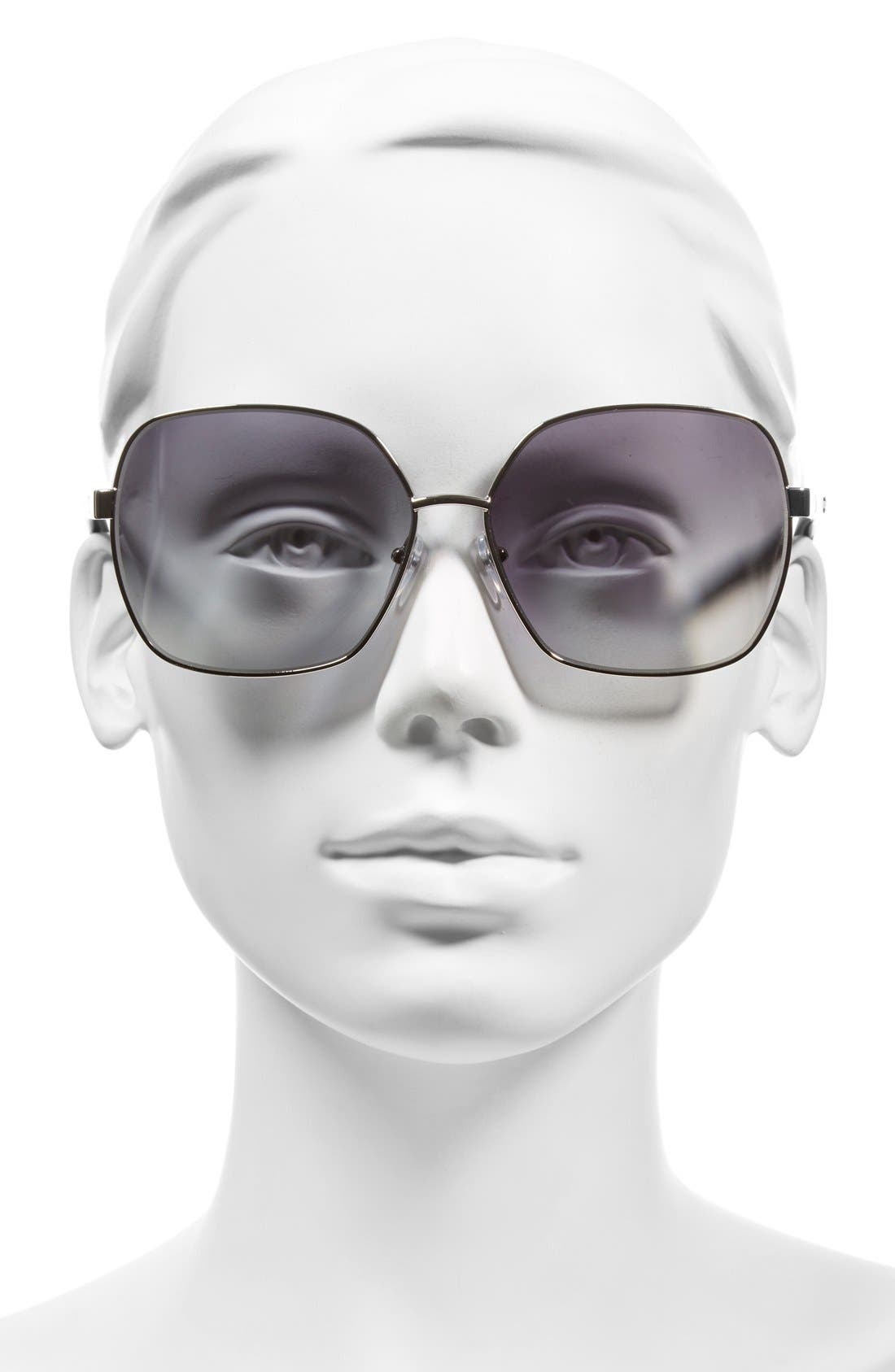 Alternate Image 2  - MARC JACOBS 61mm Oversized Sunglasses
