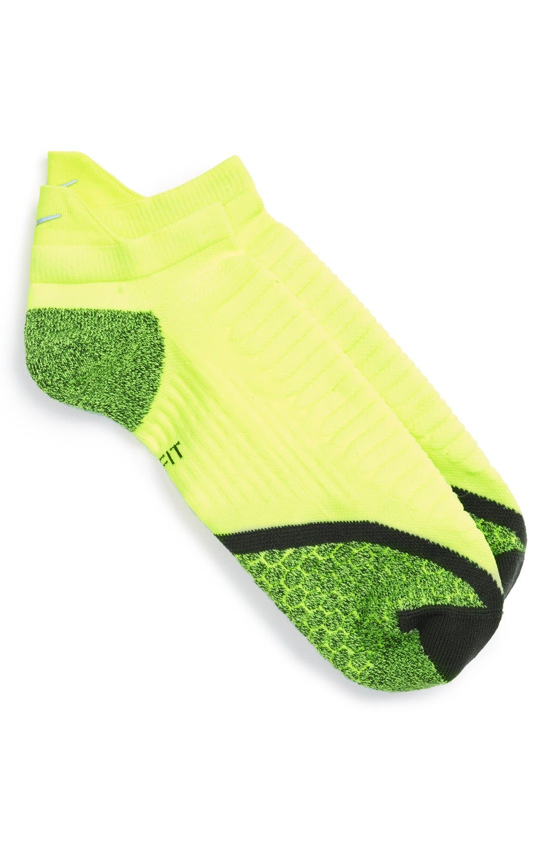 Alternate Image 1 Selected - Nike Elite Cushioned No-Show Tab Running Socks