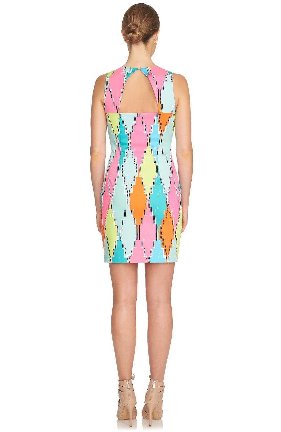 Alternate Image 2  - CeCe 'Diamond Blocks' Cutout Sheath Dress