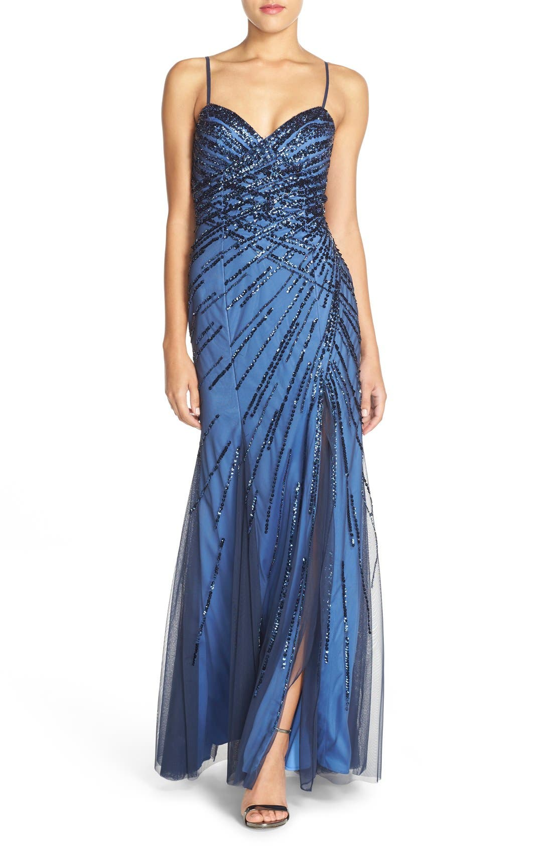 Alternate Image 1 Selected - Sean Collection Sweetheart Neck Sequin Gown
