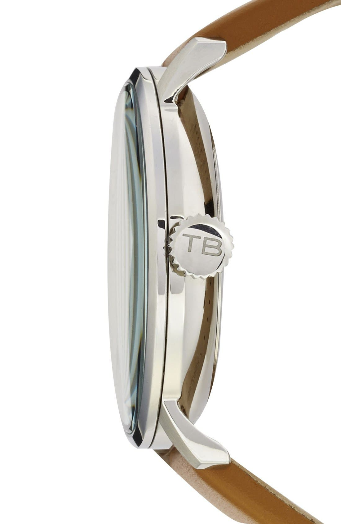 Alternate Image 3  - Ted Baker London Multifunction Leather Strap Watch, 42mm