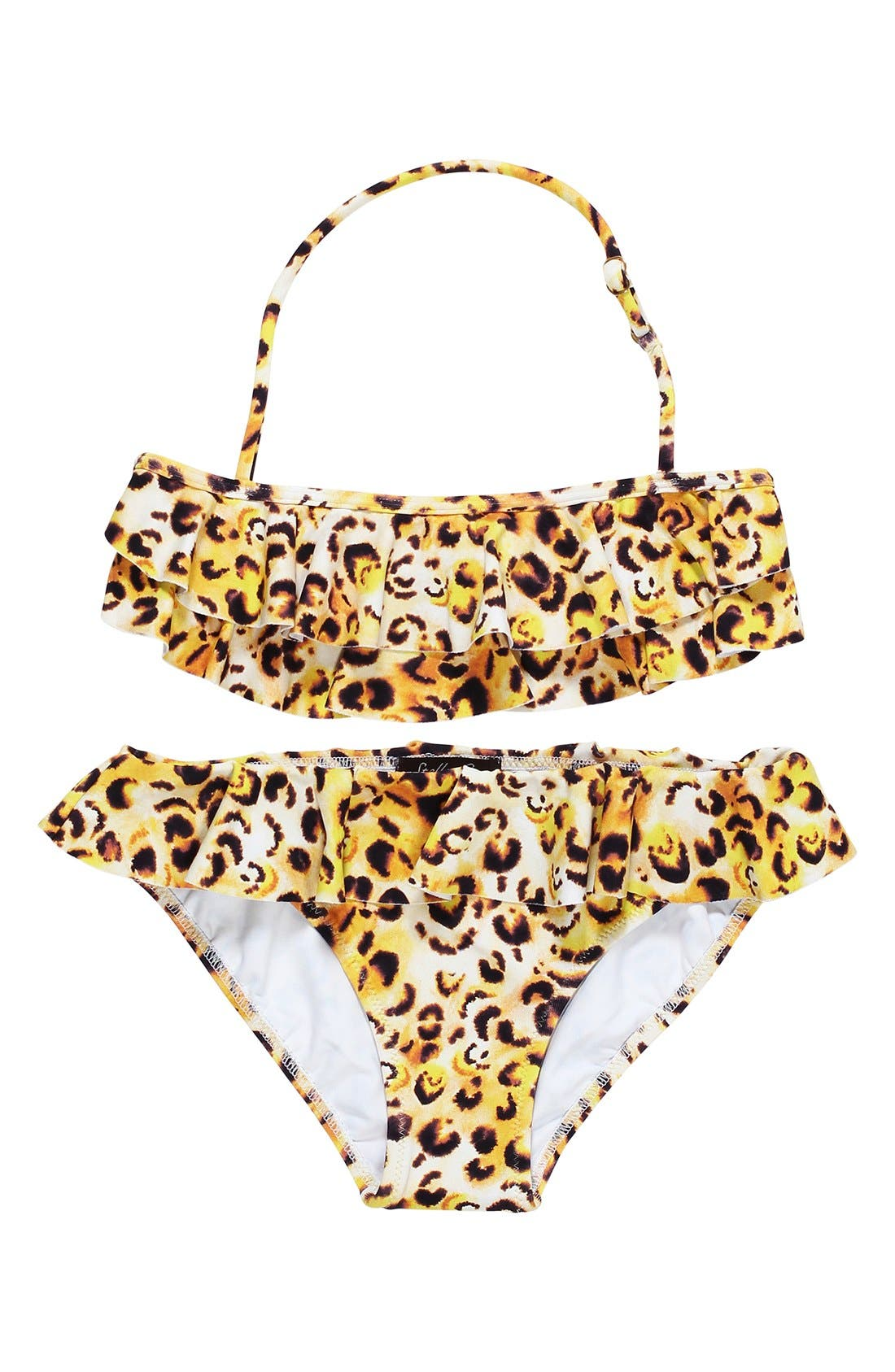 Stella Cove 'Cheetah' Ruffle Two-Piece Swimsuit (Big Girls)