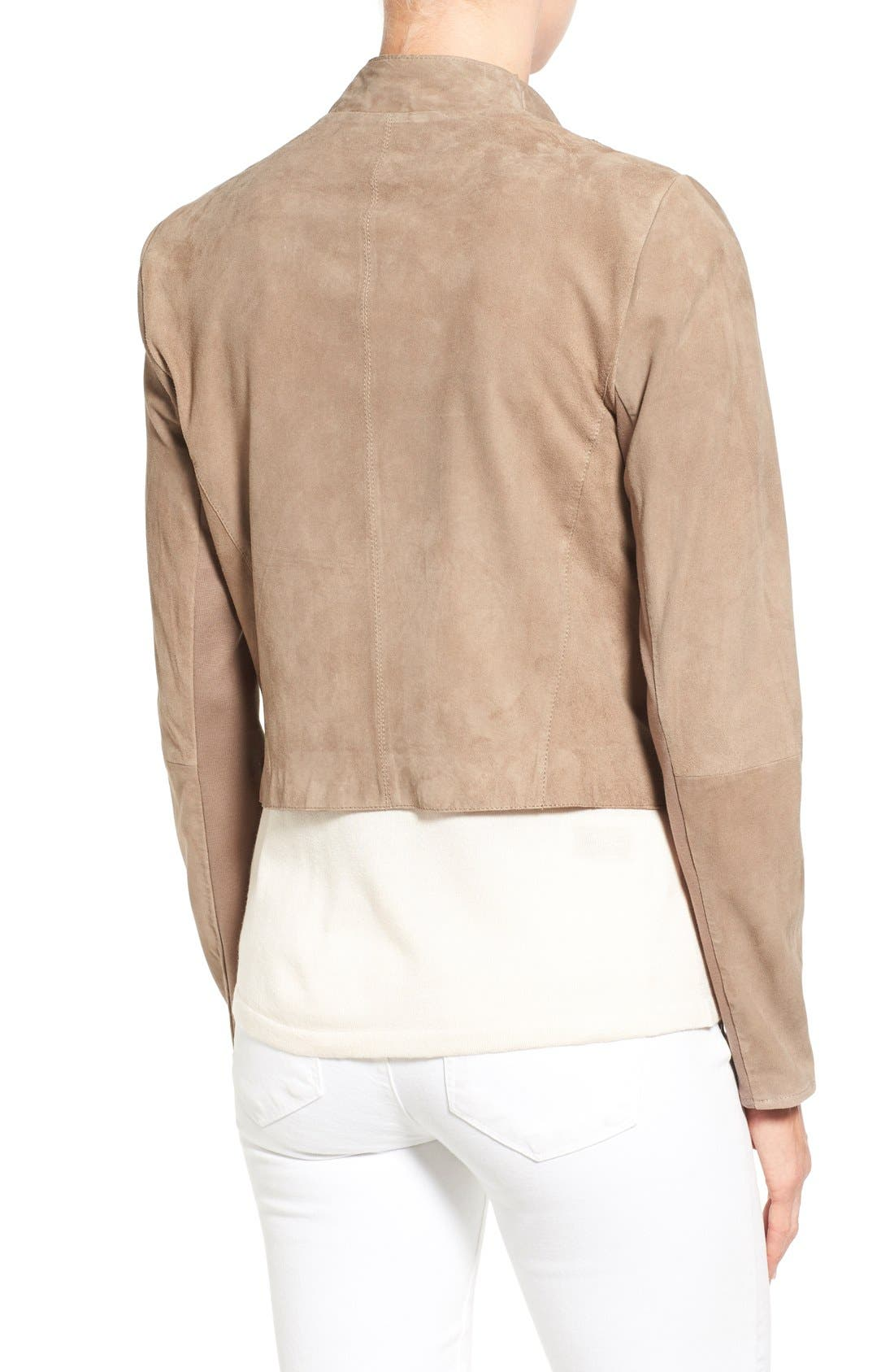 Alternate Image 2  - LAMARQUE Double Collar Suede Jacket