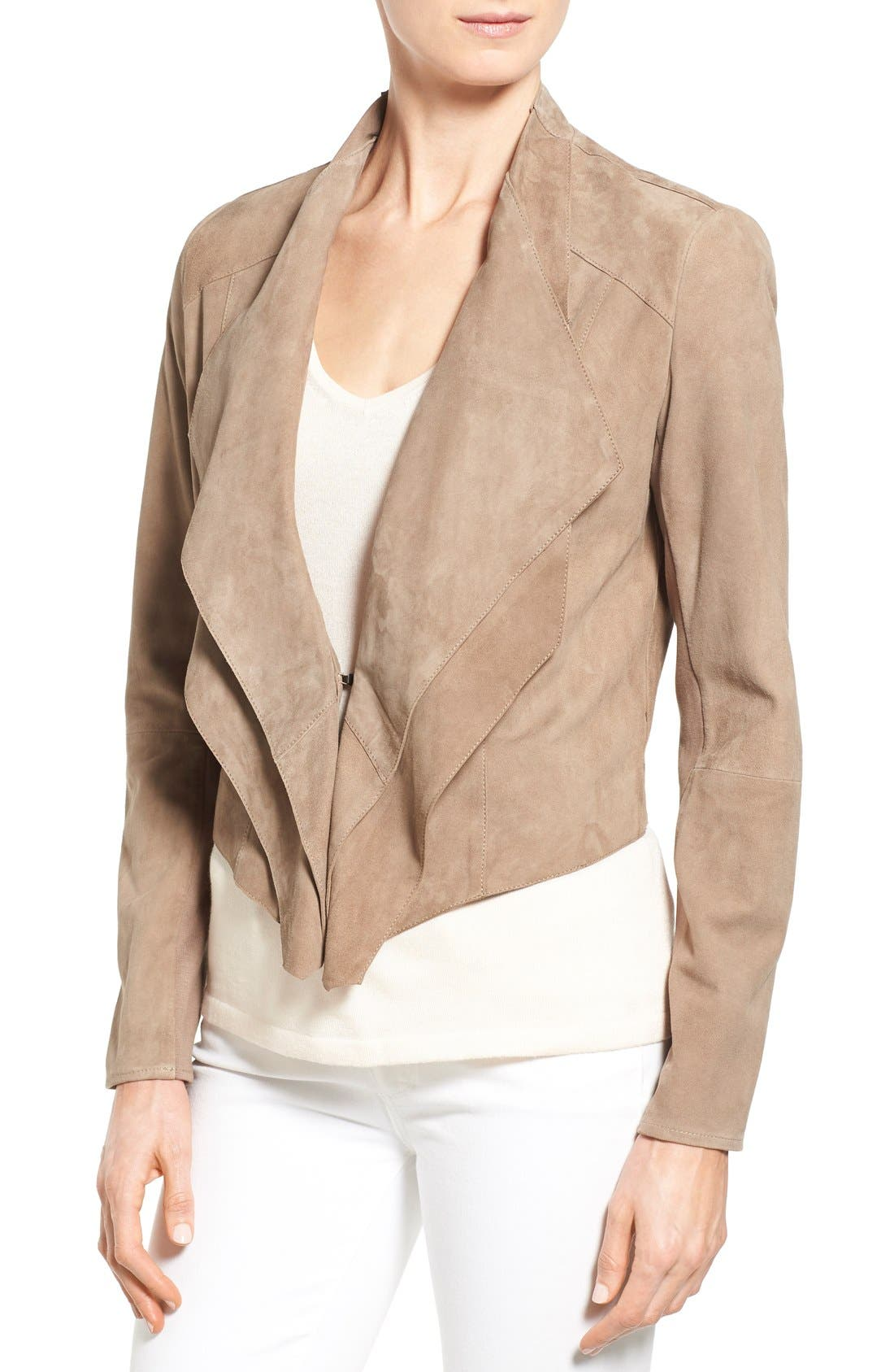 Alternate Image 4  - LAMARQUE Double Collar Suede Jacket