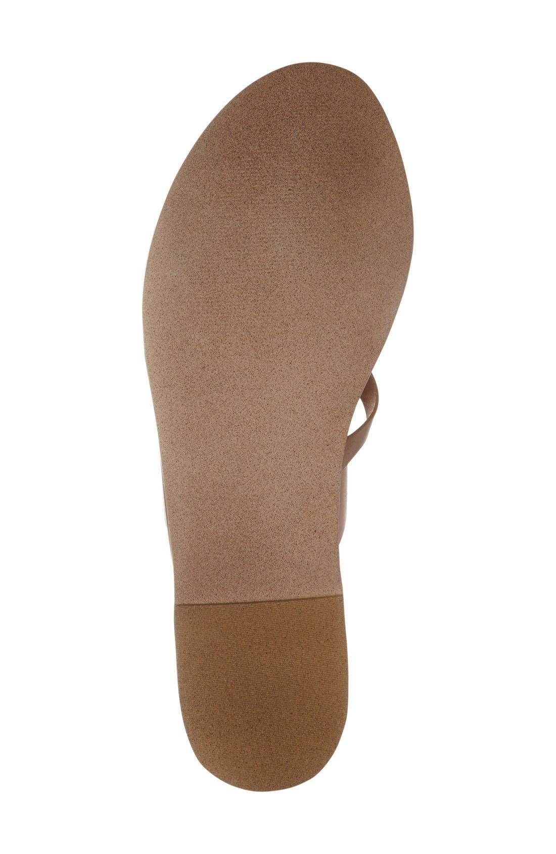 'Ambler' Sandal,                             Alternate thumbnail 4, color,                             Tan Leather
